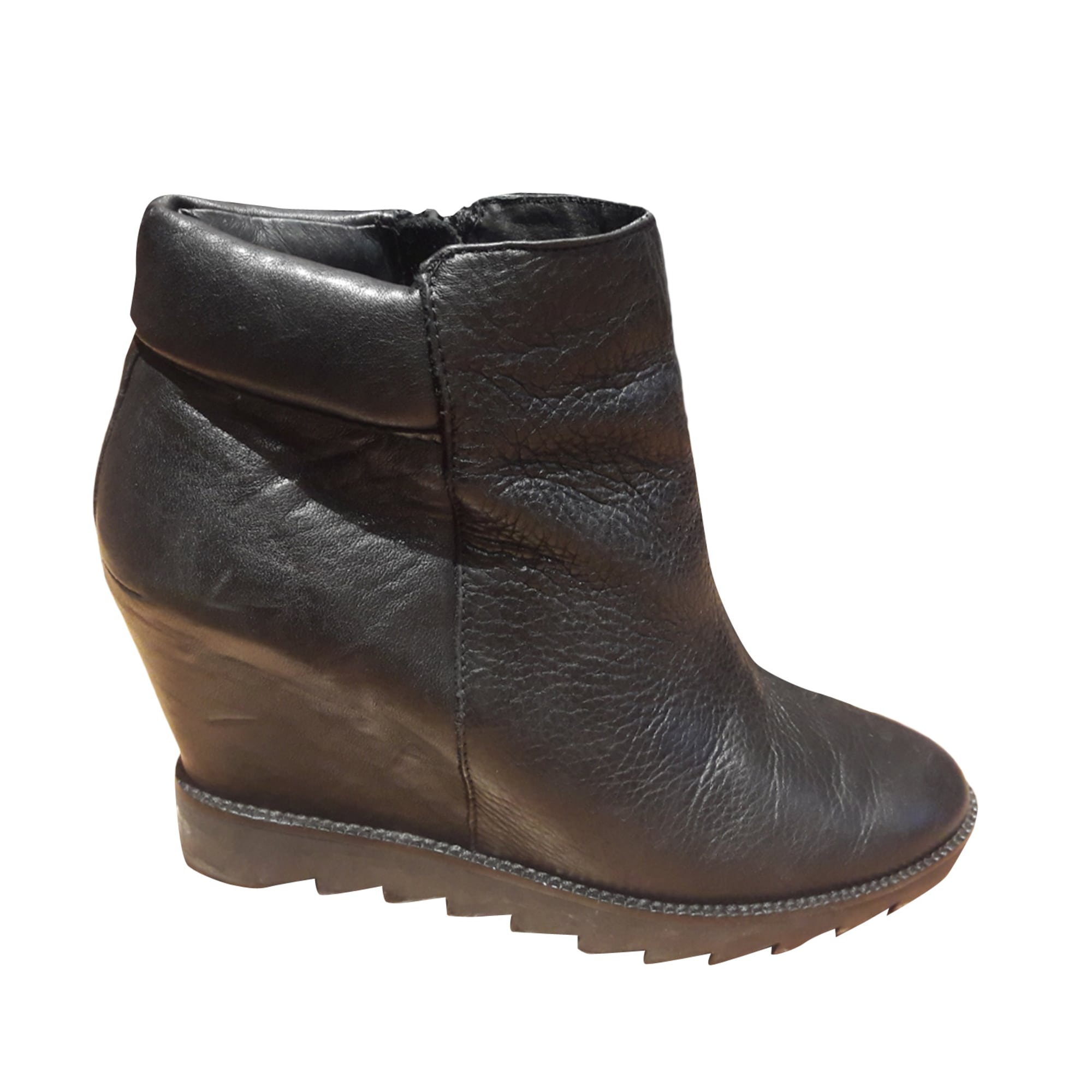 49671cfba4ea04 Bottines & low boots à compensés ASH 36 noir vendu par Corbet - 6989940