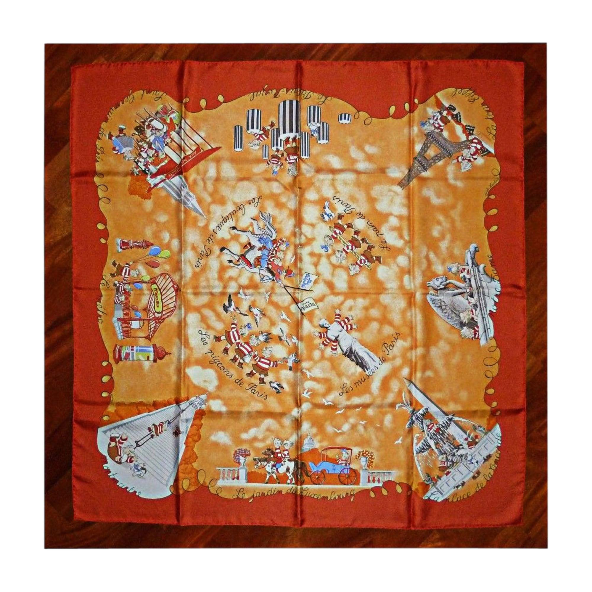 Foulard HERMÈS orange - 7004061 9223bb30c62