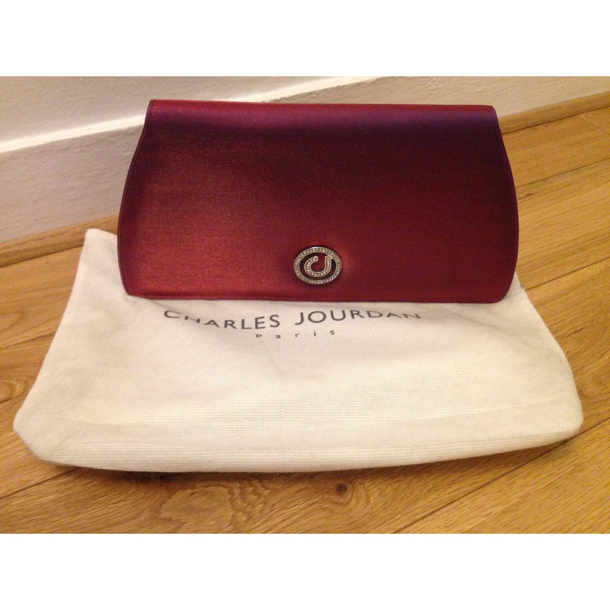 Pochette CHARLES JOURDAN a paillettes violet