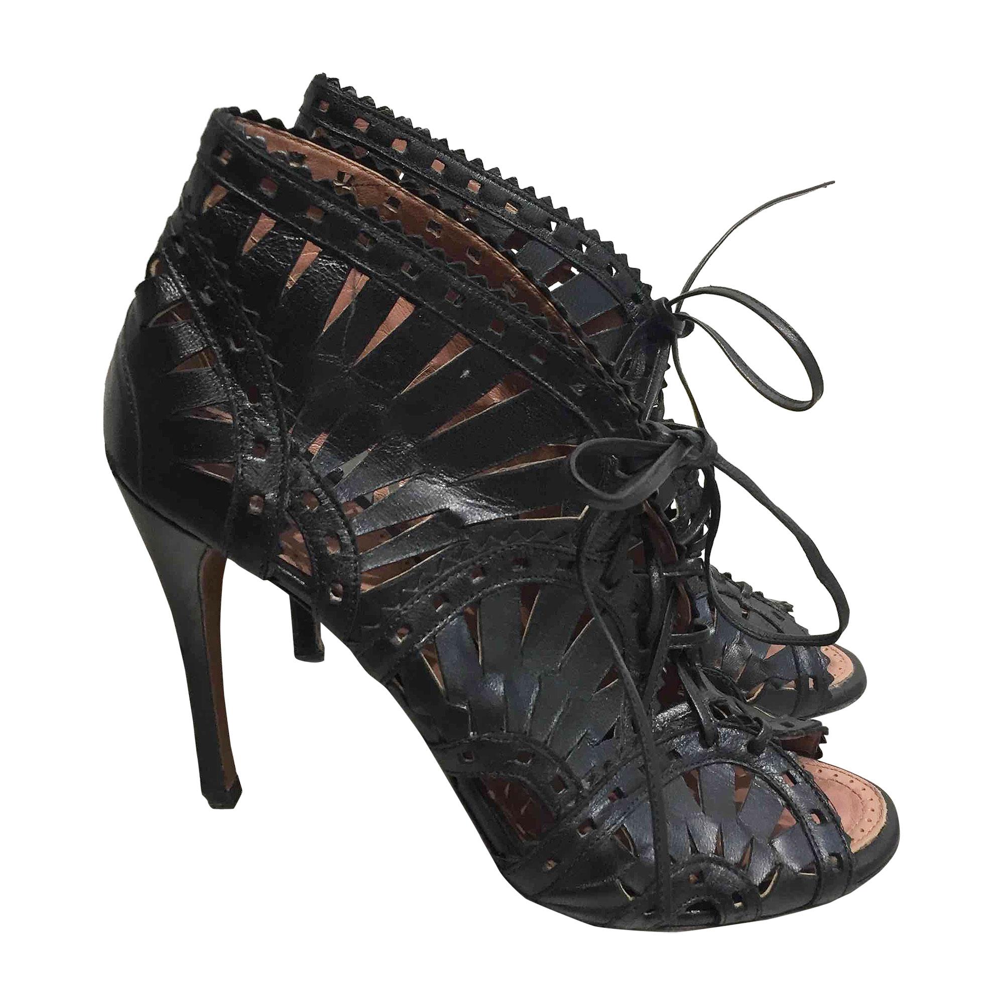 Sandales à talons ALAÏA Noir