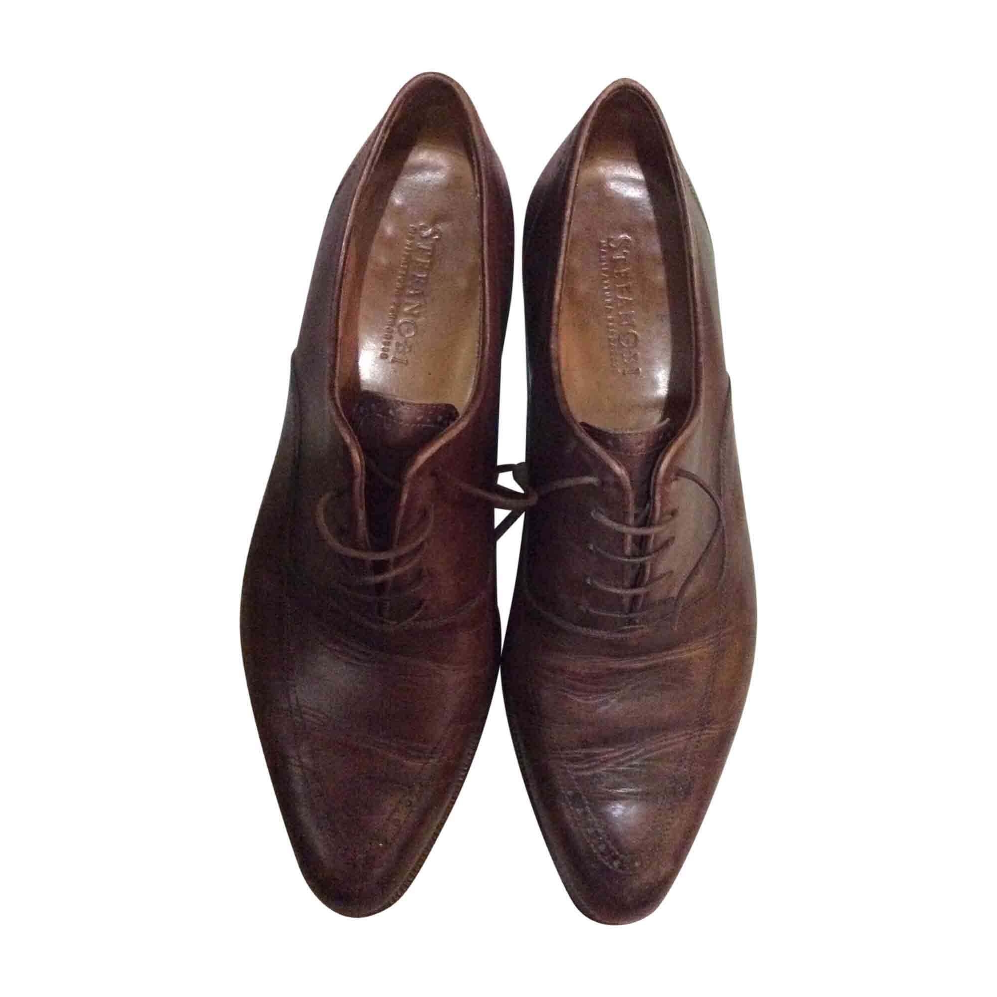 498bddc90569 Chaussures à lacets STEFANOBI 42 marron - 7007309