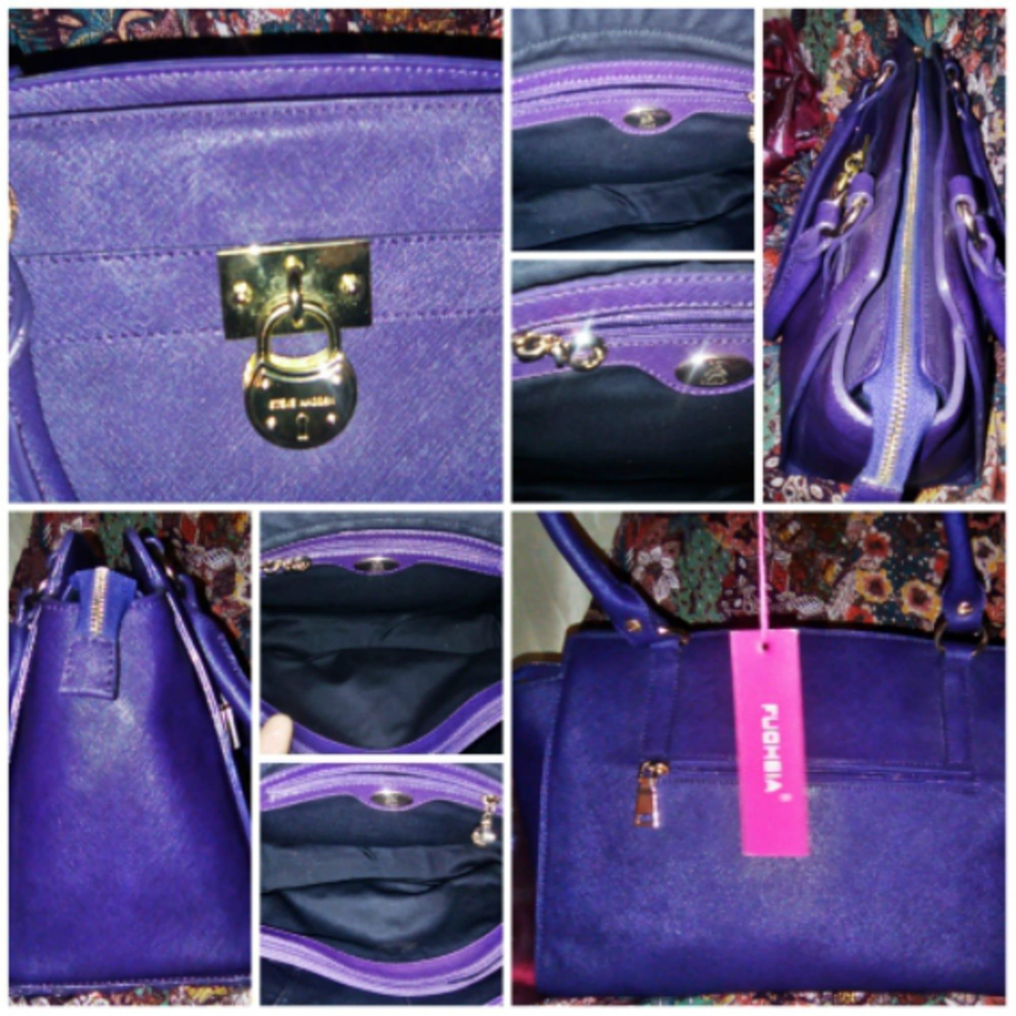 En Cuir Sac À Violet Main Fuchsia Paris 7008369 IeWYEH2D9
