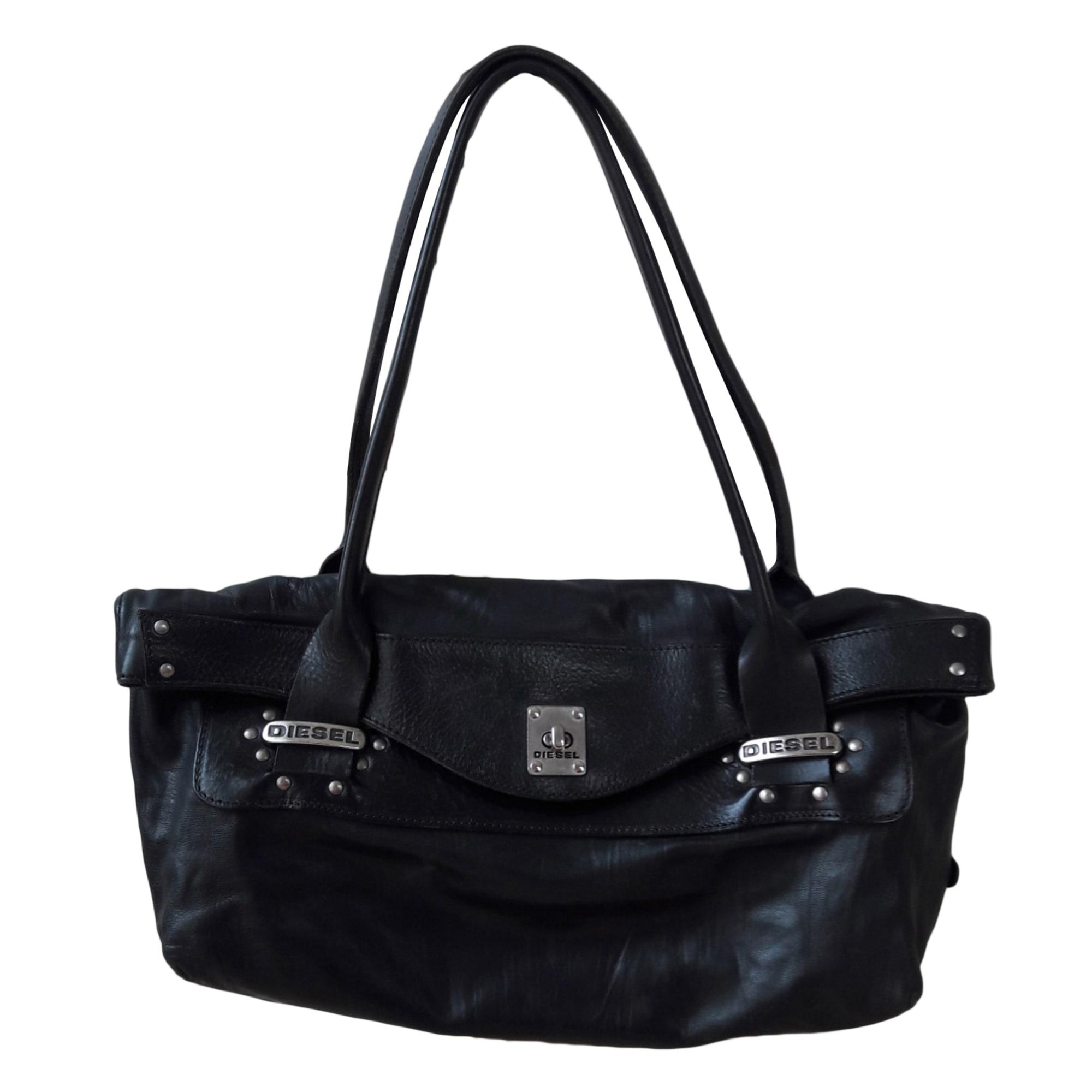 sac main en cuir diesel noir vendu par happy bear 7009414. Black Bedroom Furniture Sets. Home Design Ideas