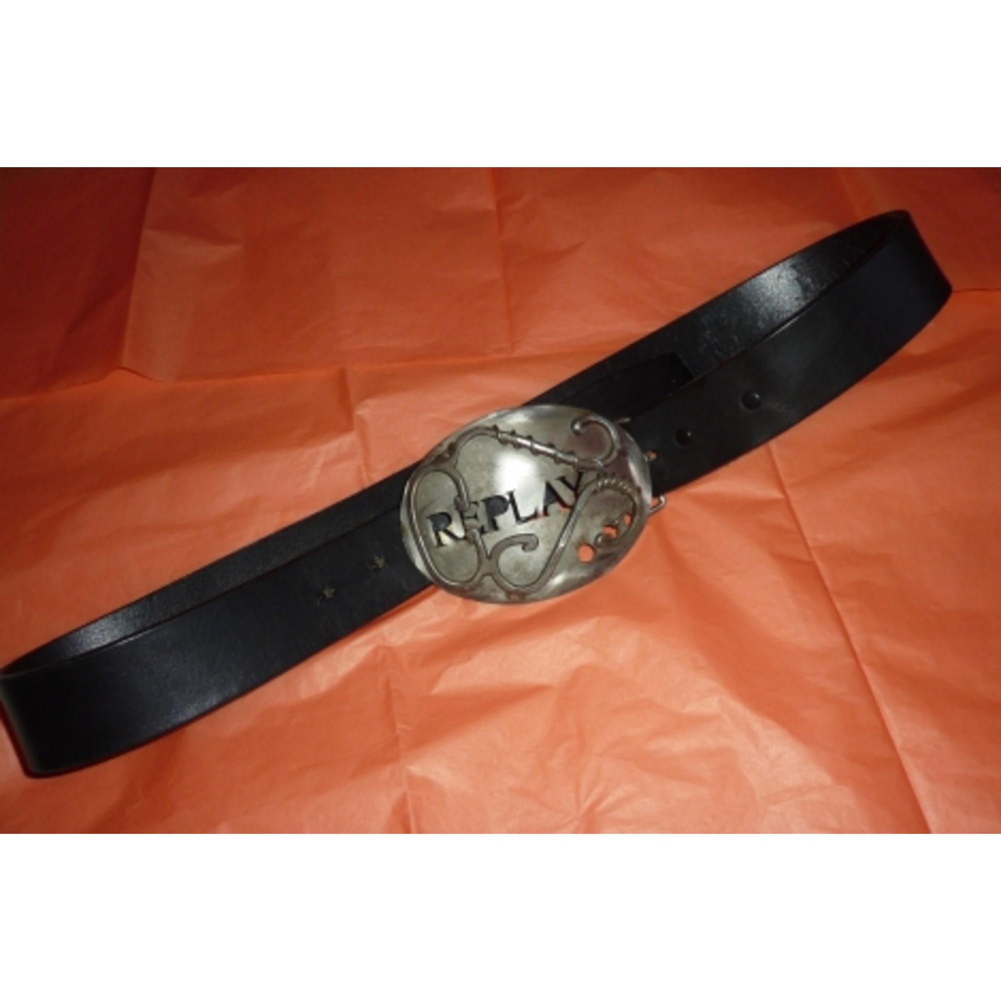 Ceinture REPLAY 90 noir vendu par Meniru - 7015549 5e62efd54f7