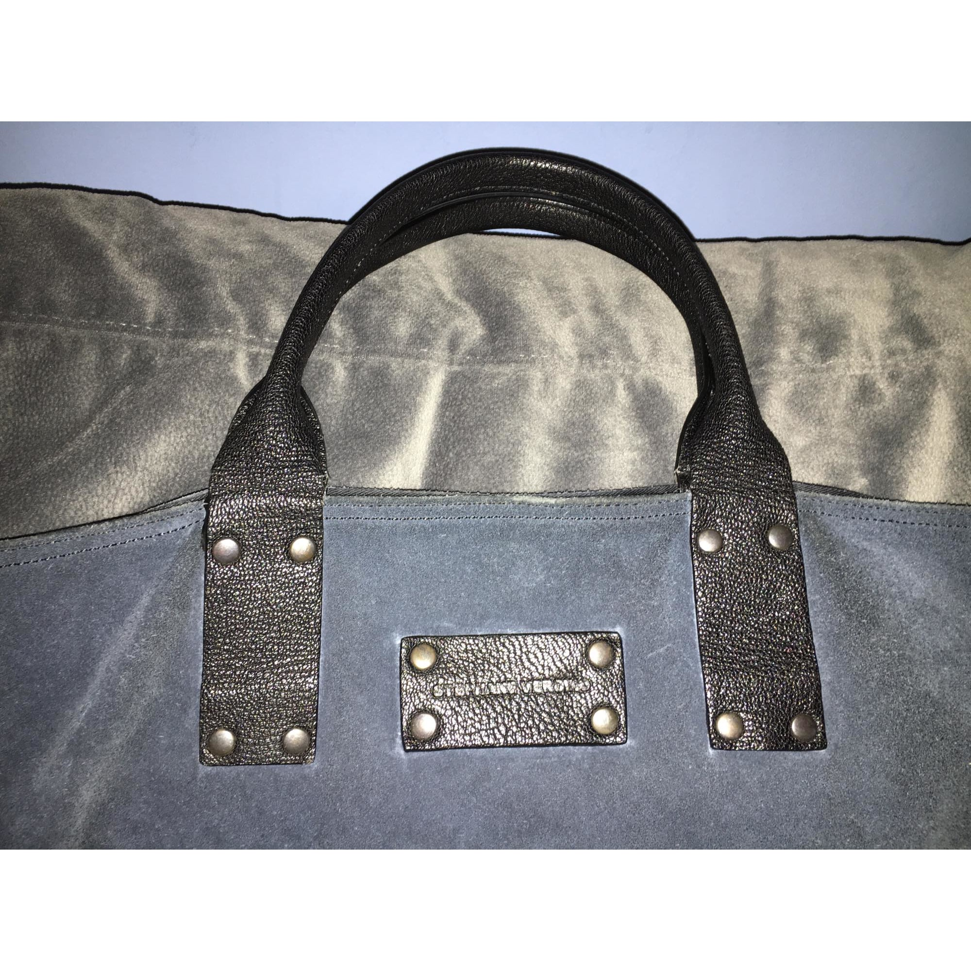 Cabas STÉPHANE VERDINO cuir bleu