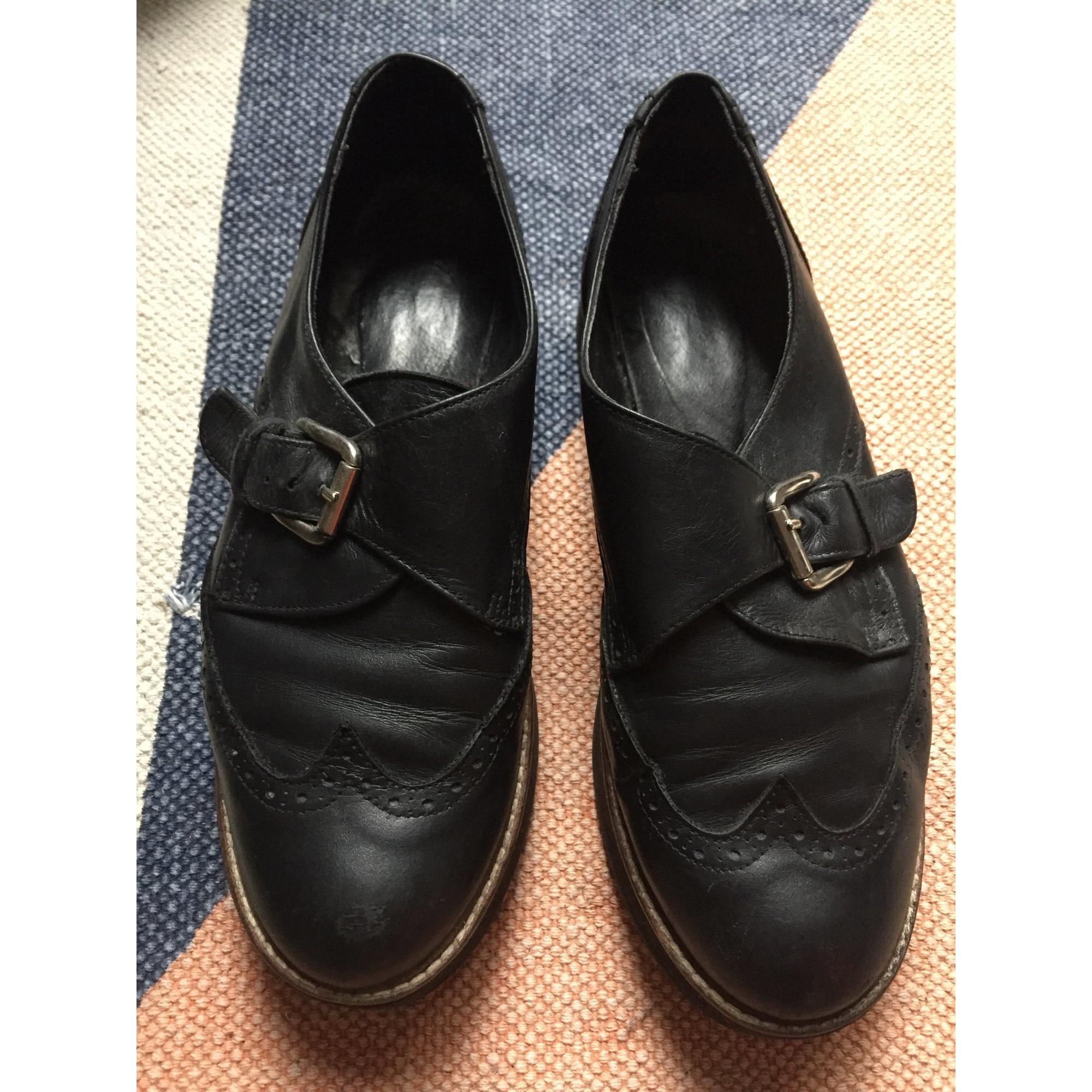 Bottines & low boots à compensés EDEN Noir