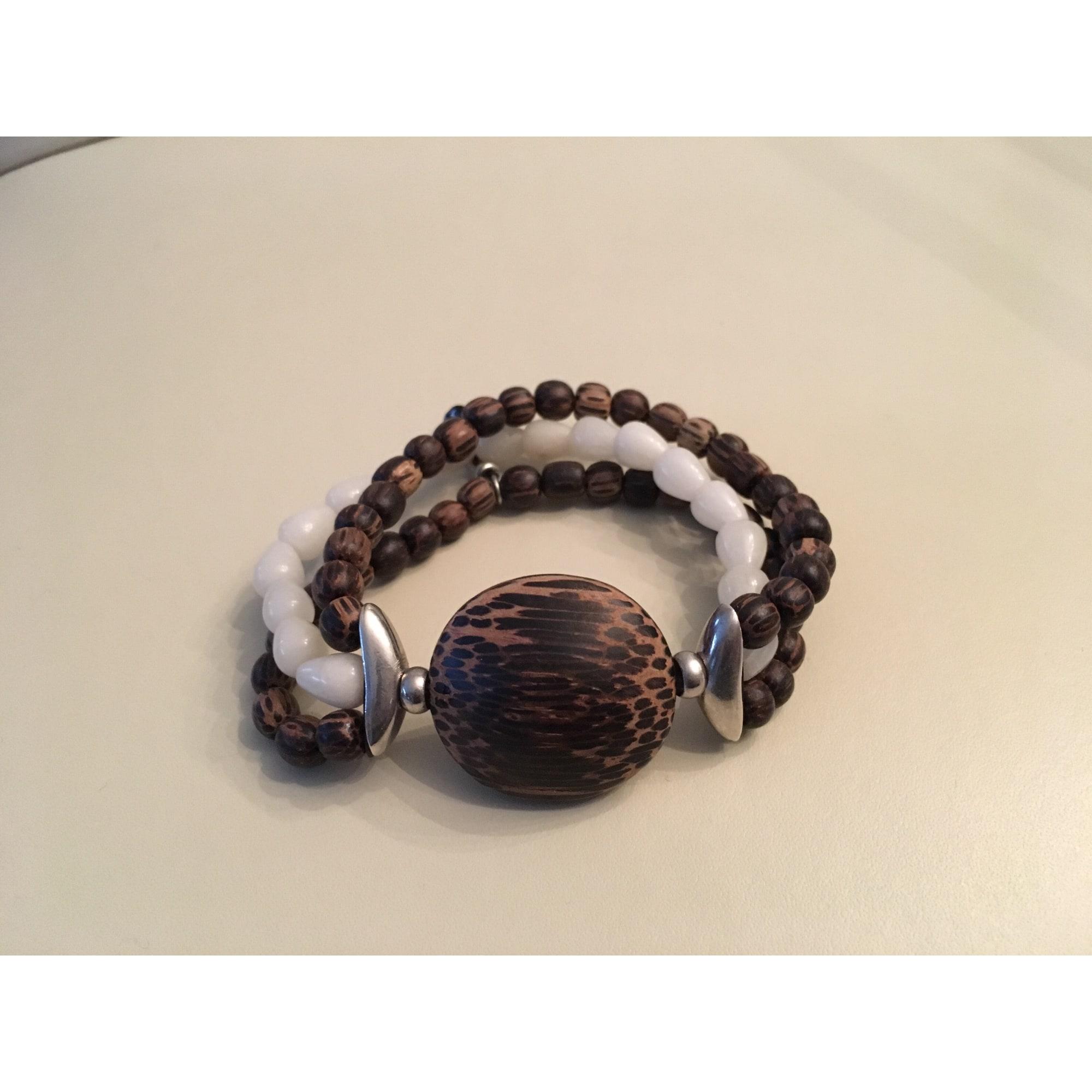 Bracelet NATURE pierres blanc