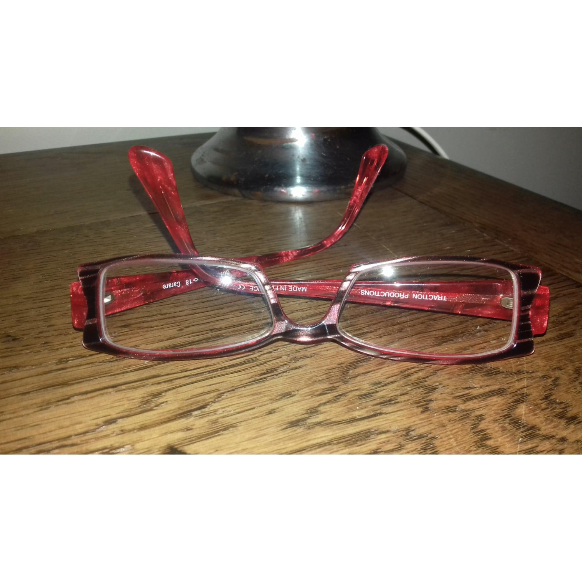 ef561d70279f6 Monture de lunettes TRACTION PRODUCTIONS rouge - 7047170
