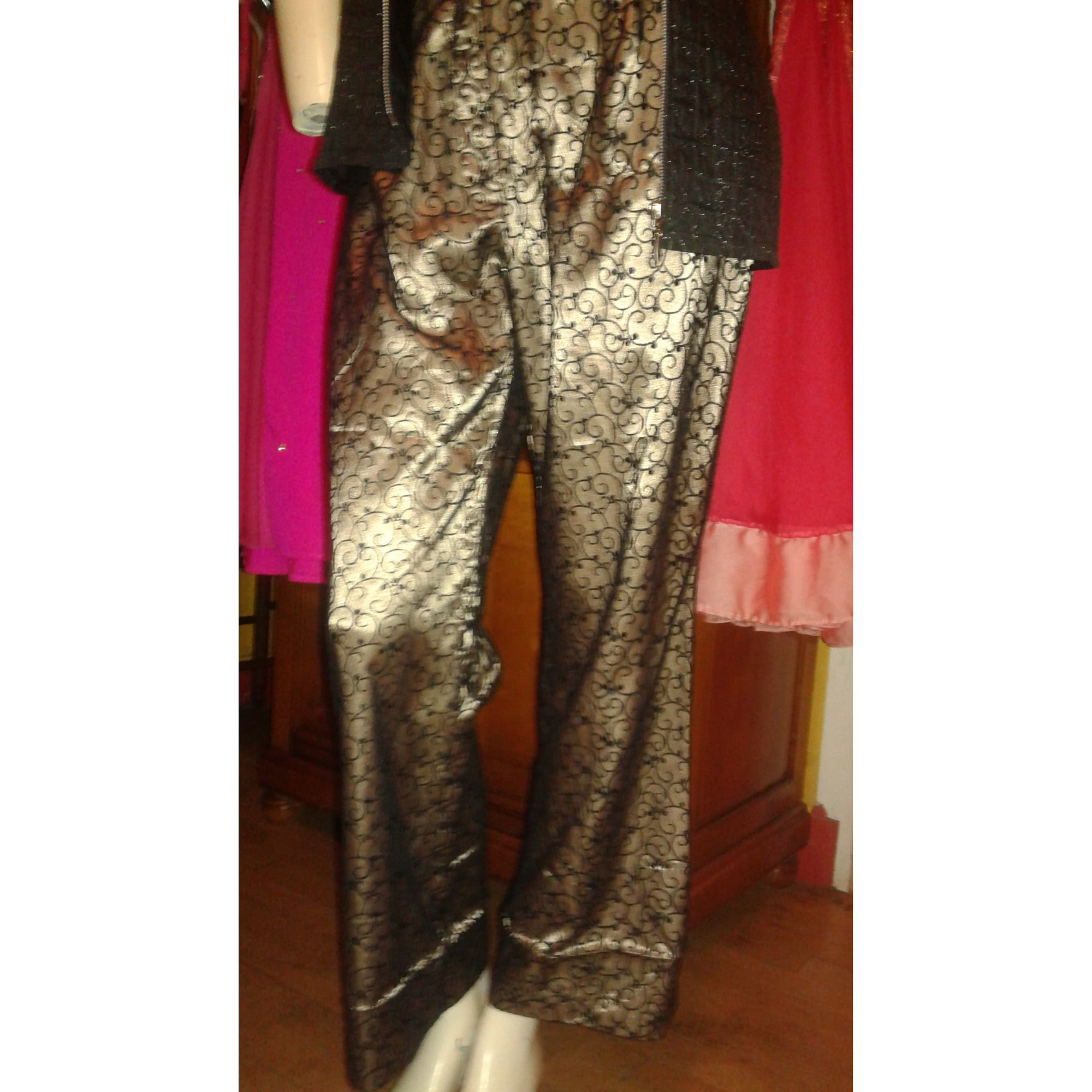 8eba352128d2 Pantalon large ANNE WEYBURN 42 (L XL, T4) noir - 7050388