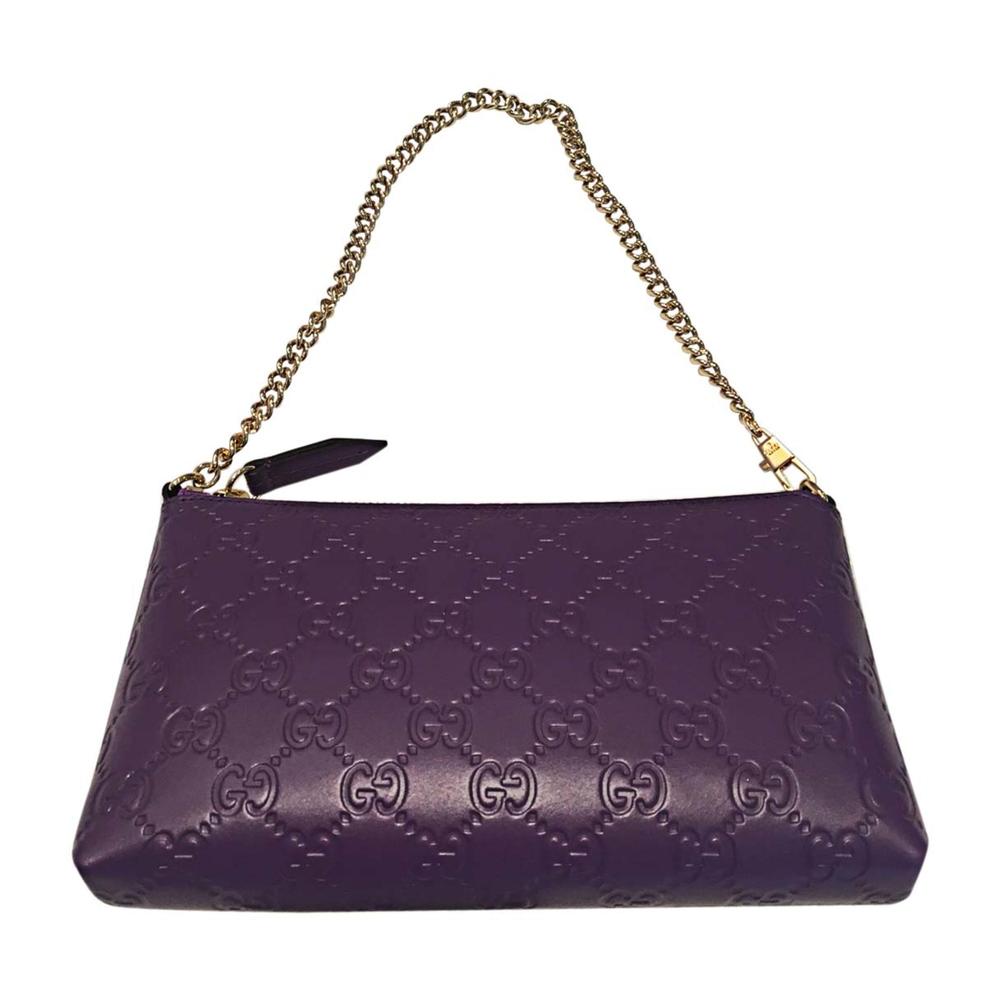 3211f1718f0b Sac pochette en cuir GUCCI violet vendu par Kim - fwi - 7058217