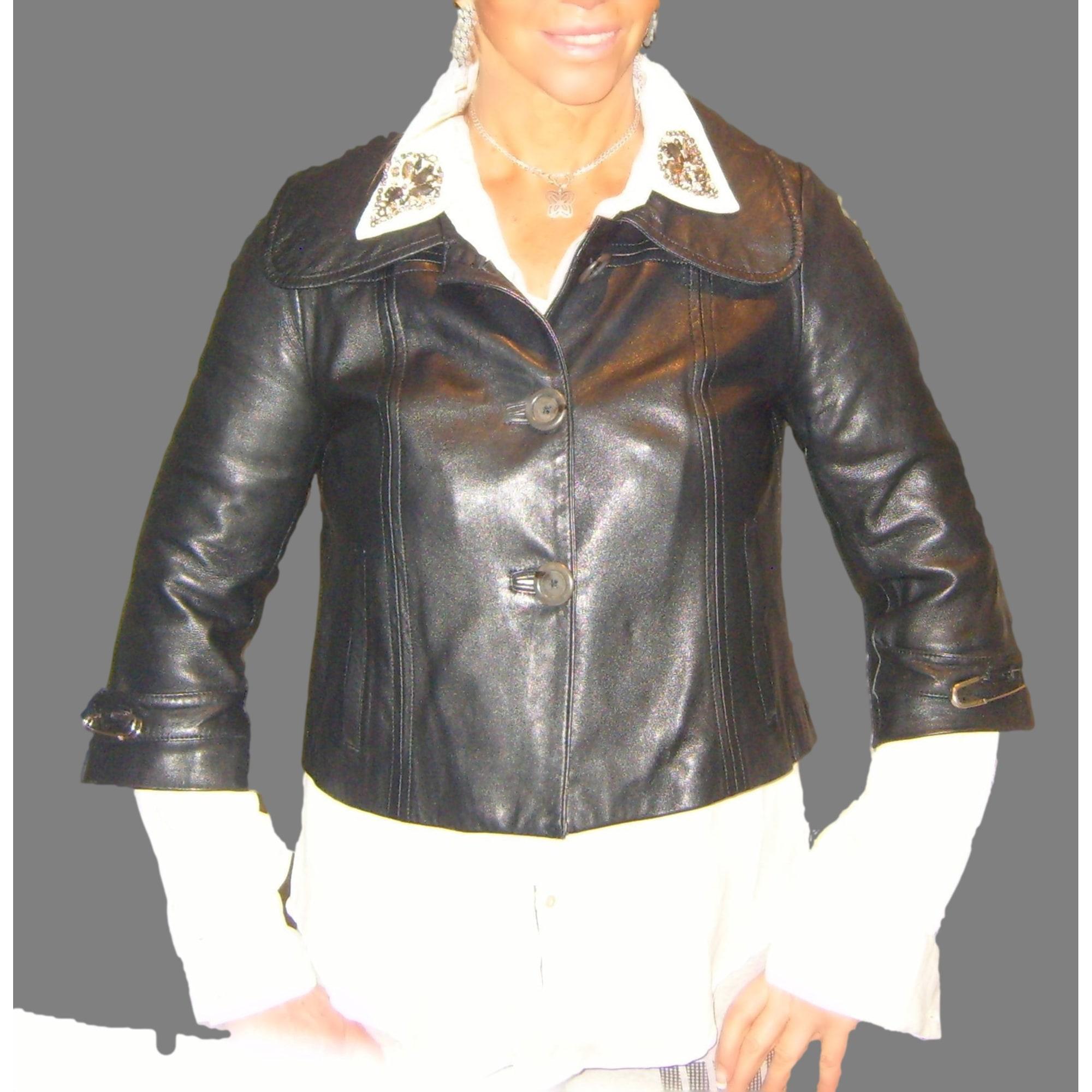 Manigance Blouson Blouson Noir Cuir Cuir Noir Blouson Femme Femme Manigance Aj34LR5q