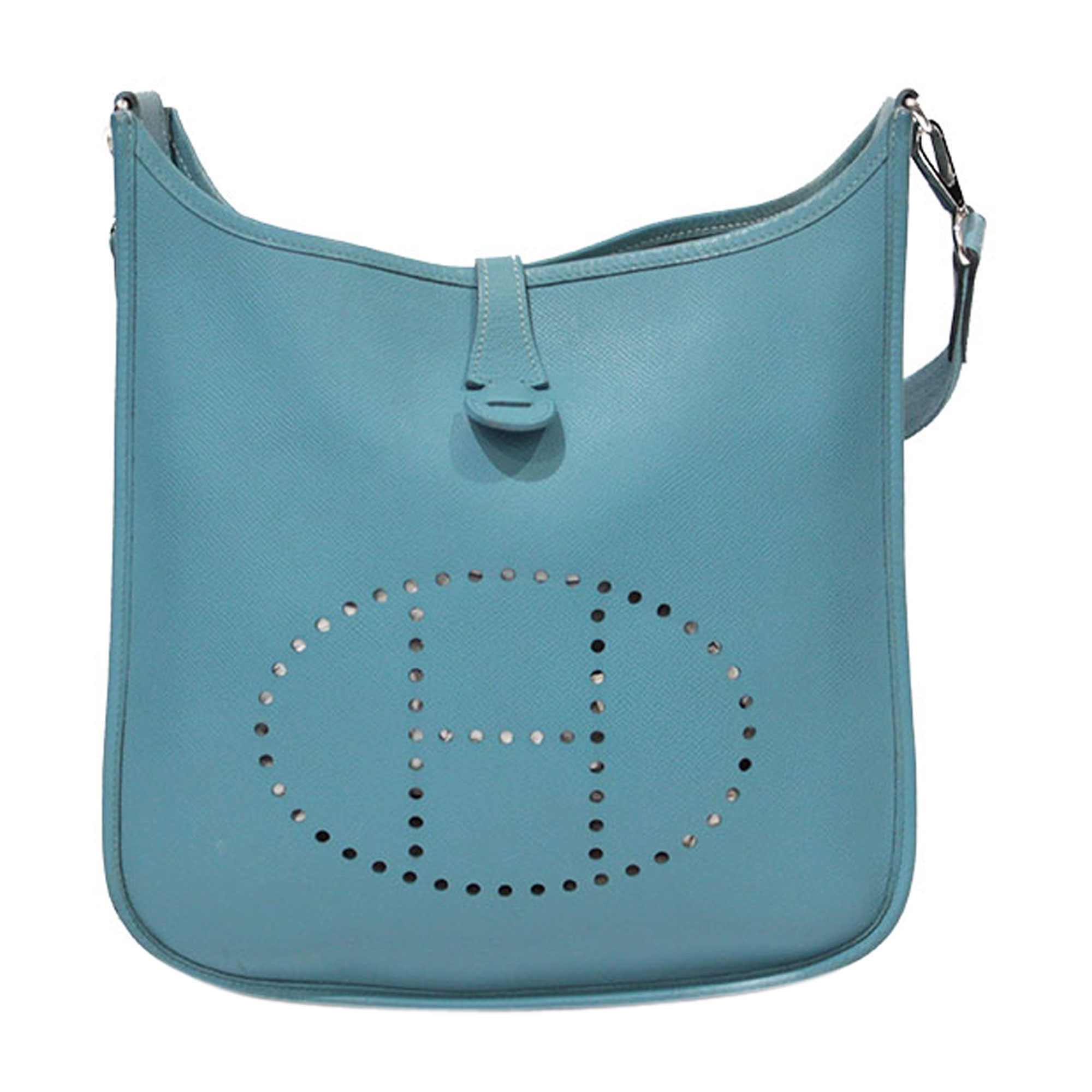79e8e48c12 Sac en bandoulière en cuir HERMÈS Evelyne Bleu, bleu marine, bleu turquoise