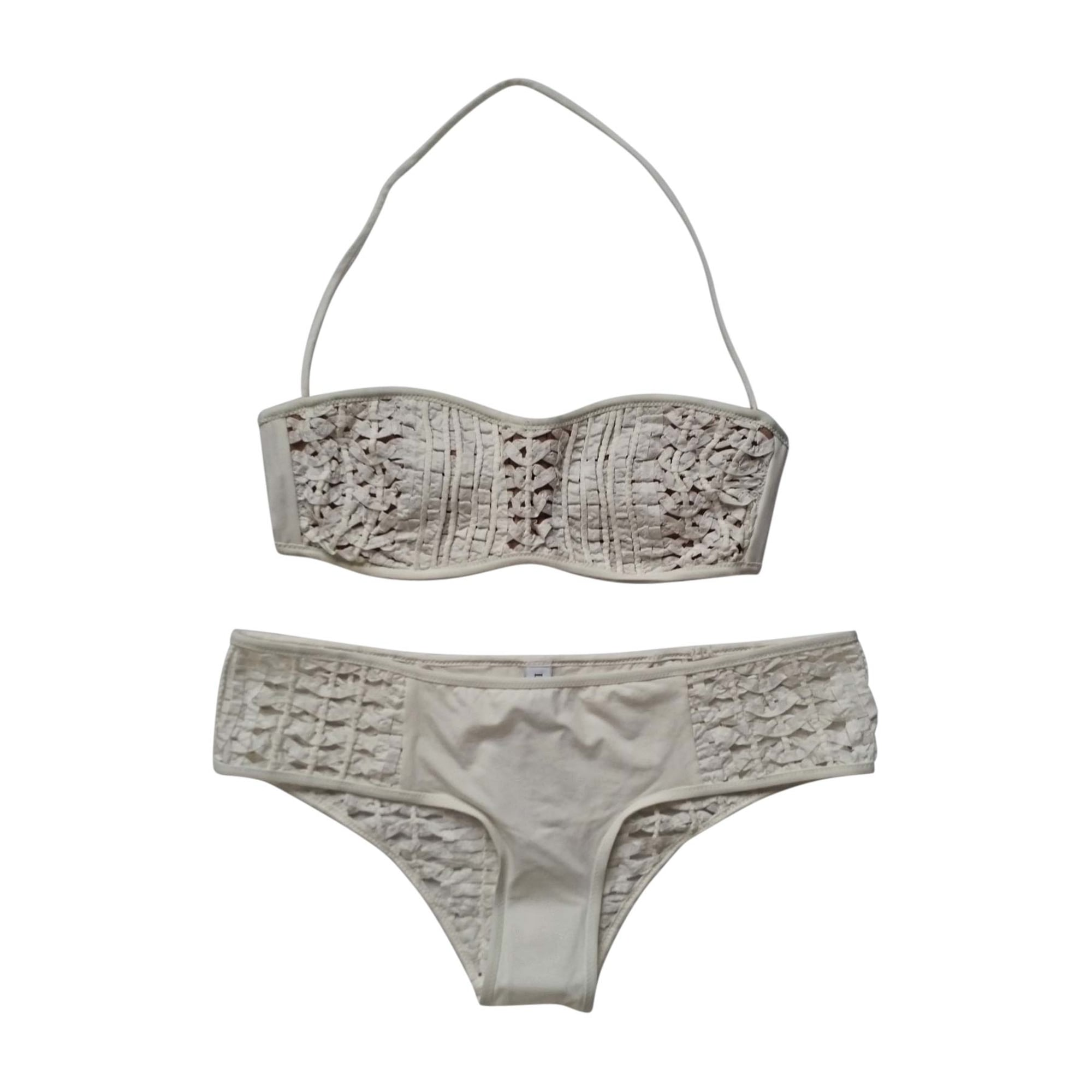 maillot de bain deux pi ces la perla 36 s t1 blanc 7093002. Black Bedroom Furniture Sets. Home Design Ideas