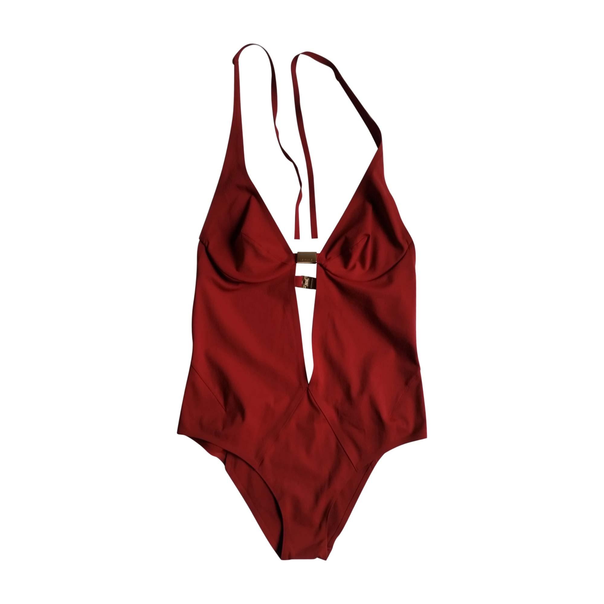maillot de bain une pi ce la perla 38 m t2 rouge 7093053. Black Bedroom Furniture Sets. Home Design Ideas