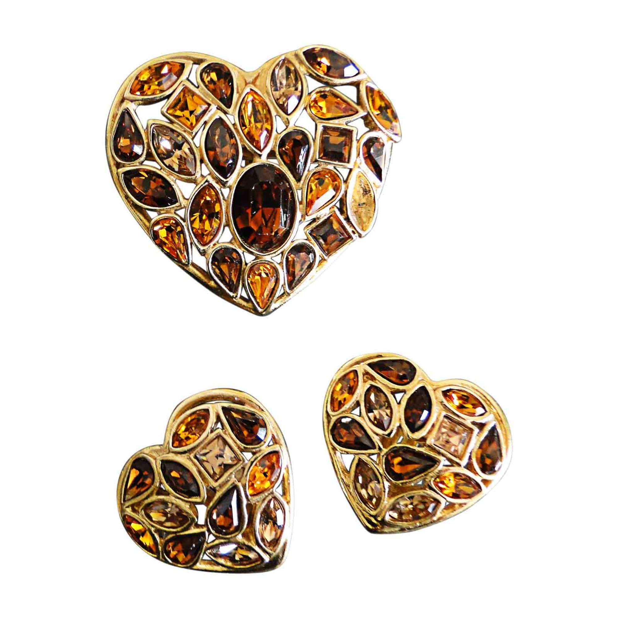 f21fff15ed4e Parure bijoux YVES SAINT LAURENT marron vendu par Luxueusement vôtre ...