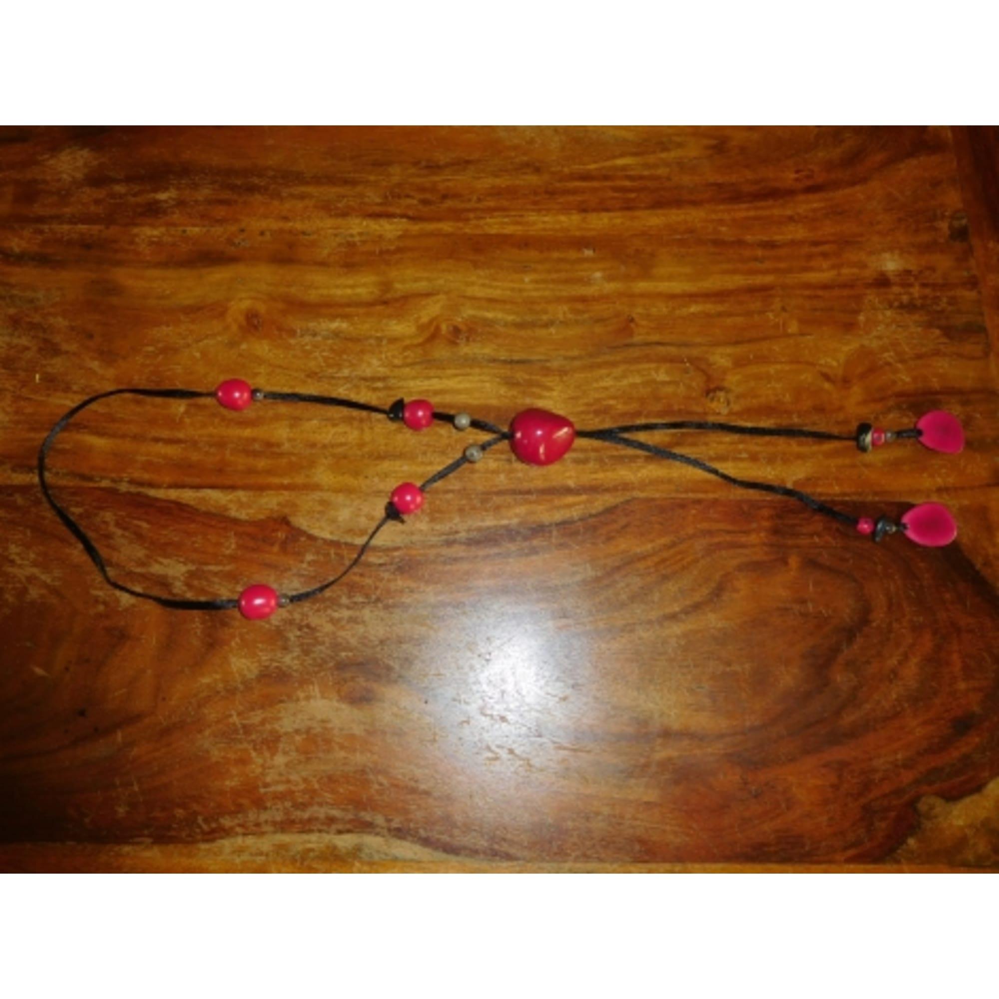 Sautoir CHACOK tissu rose