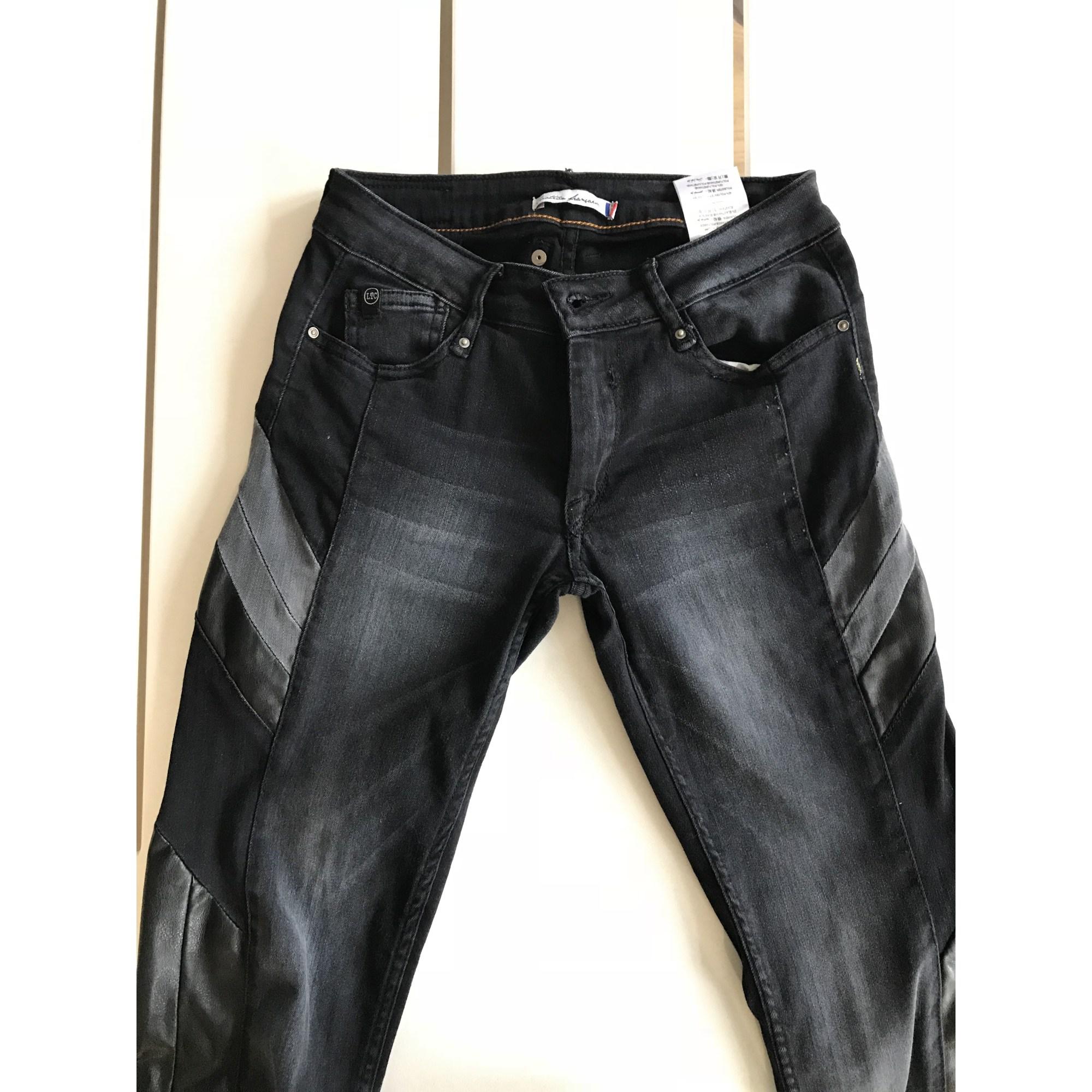 Jean slim LE TEMPS DES CERISES coton noir 15-16 ans