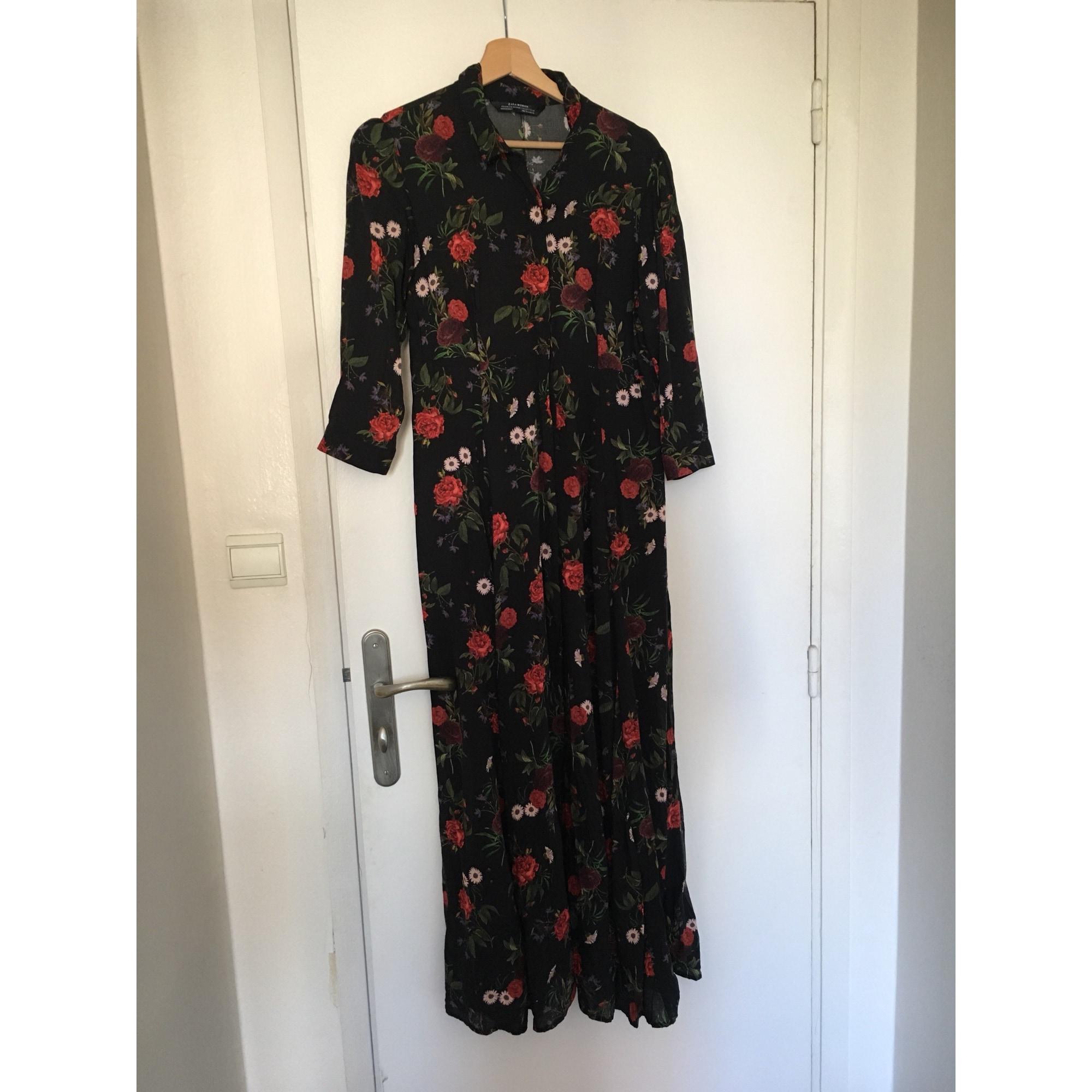 Longue Robe Zara Fleurie Fleurie Robe Rouge Longue Rouge Zara Robe vmNn80ywO