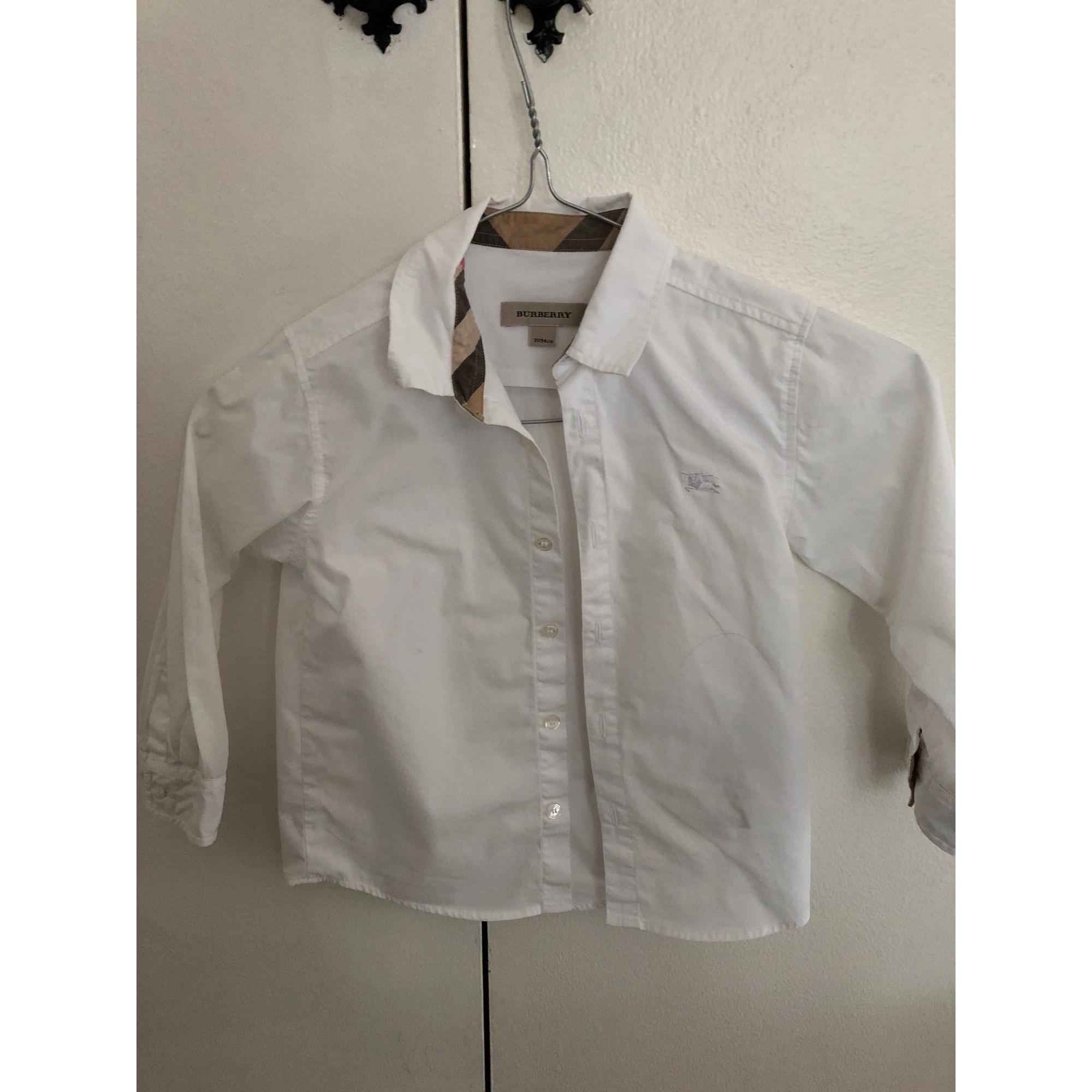 Chemise BURBERRY 3-4 ans blanc vendu par Lorraine 231 - 7119718 9cded11f40cf