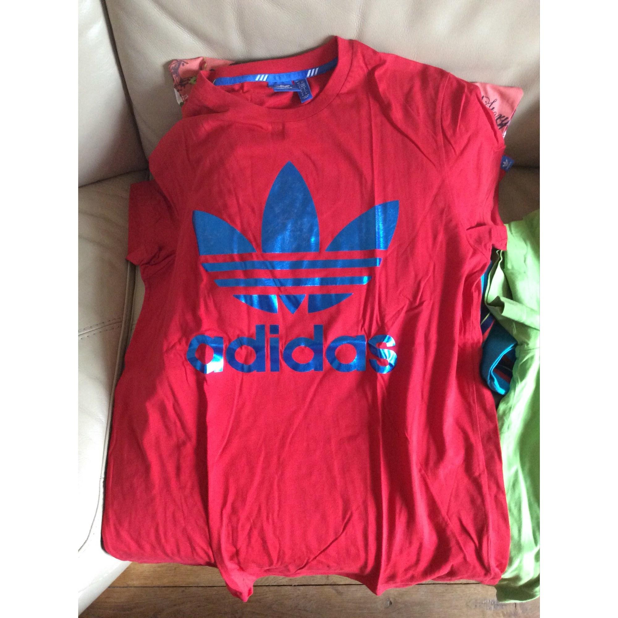 61d6cddf41ee4 Tee-shirt ADIDAS 2 (M) rouge et bleu - 7134098