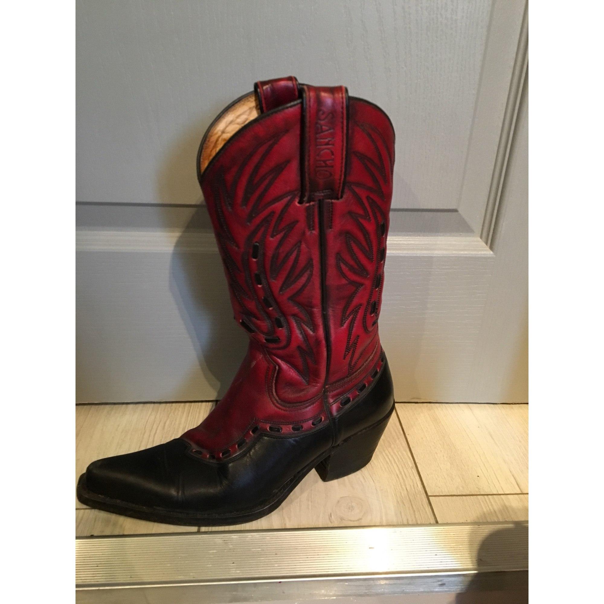 Santiags, bottes cowboy SANCHO BOOTS Noir