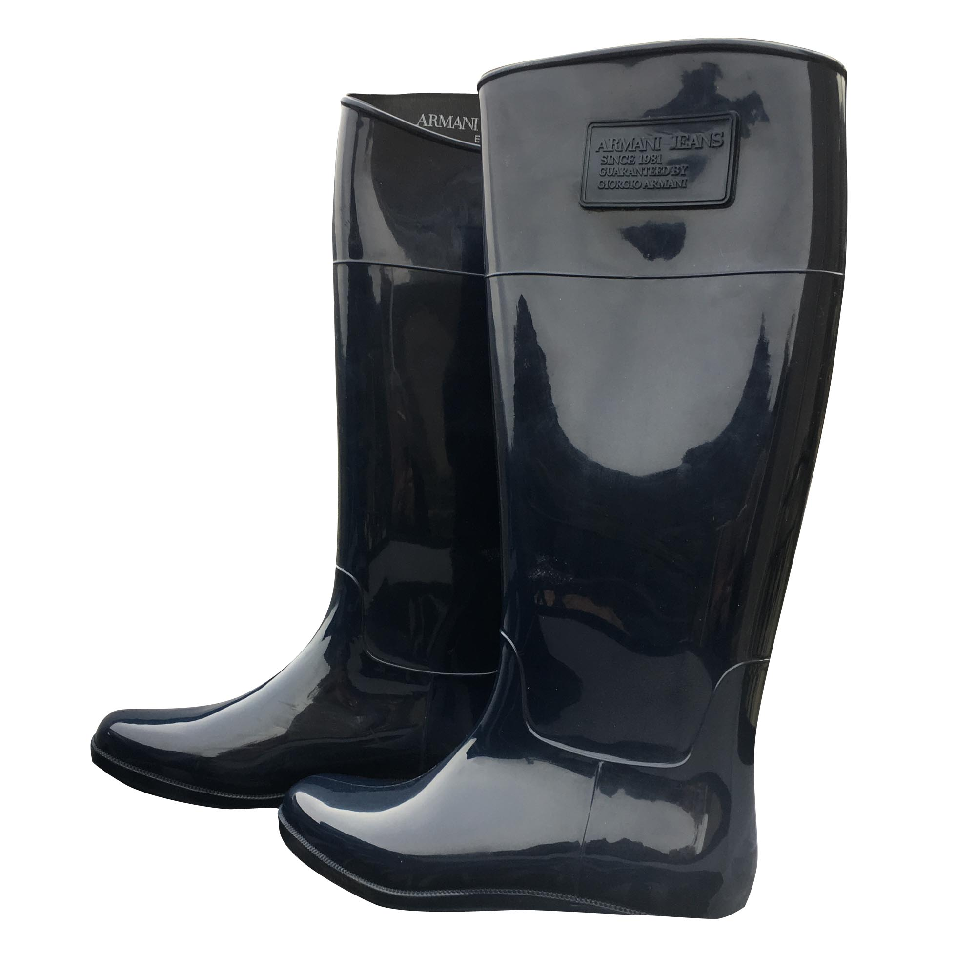 a8fd2d011577 Bottes de pluie ARMANI JEANS 37 bleu vendu par Escales2 - 7140631