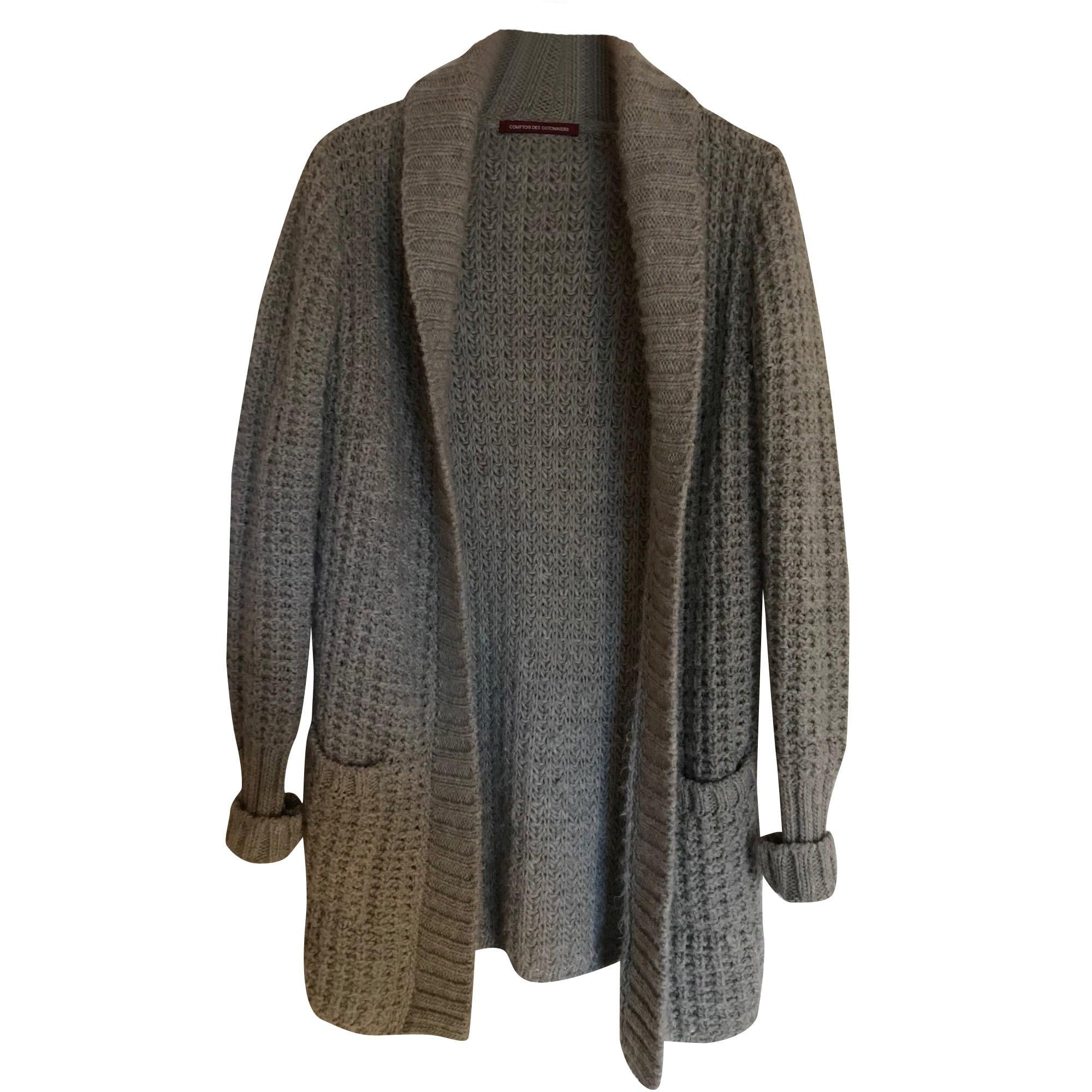 Gilet cardigan comptoir des cotonniers 36 s t1 gris vendu par sophie 194280700 7141783 - Cardigan comptoir des cotonniers ...