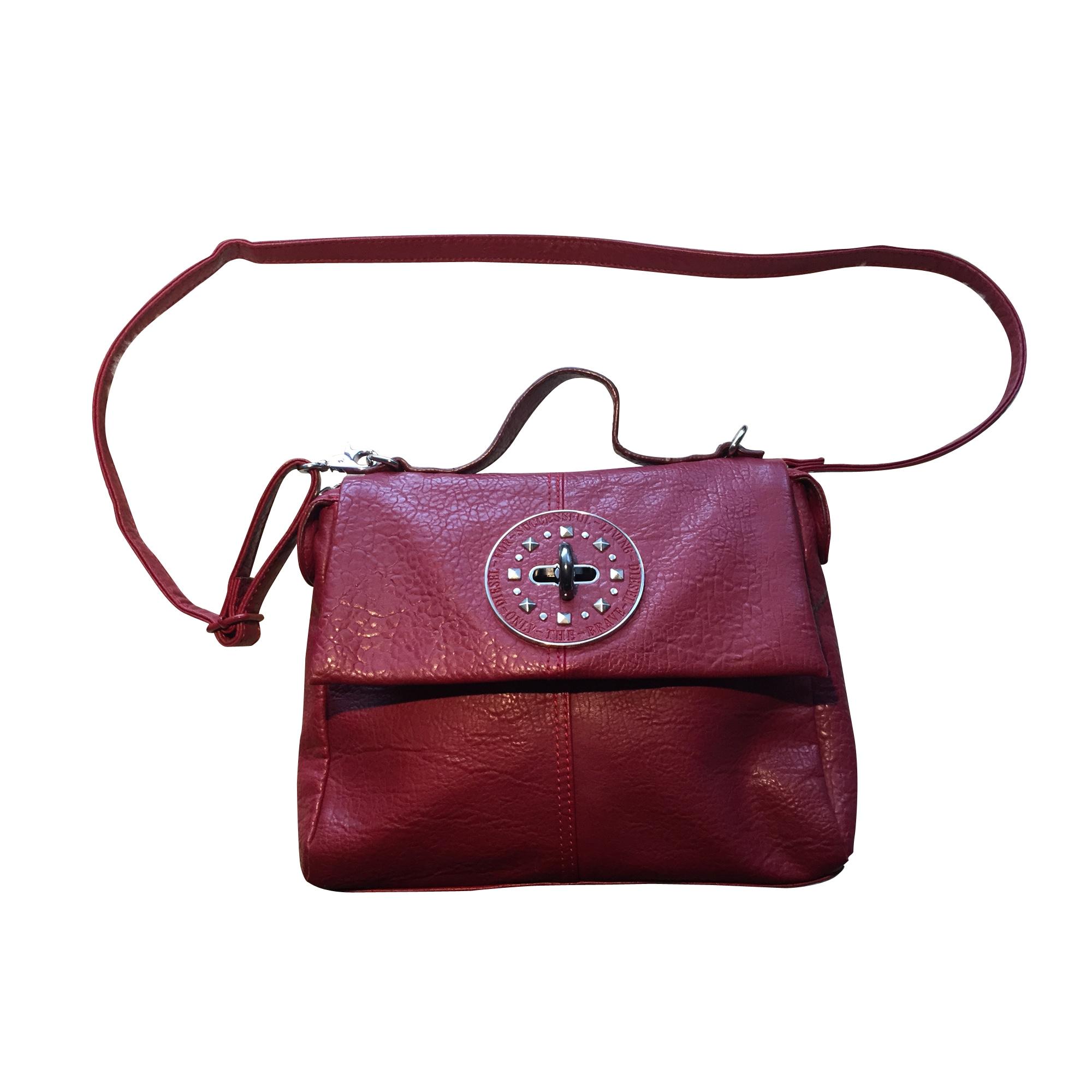 sac main en cuir diesel rouge bordeaux 7151455. Black Bedroom Furniture Sets. Home Design Ideas