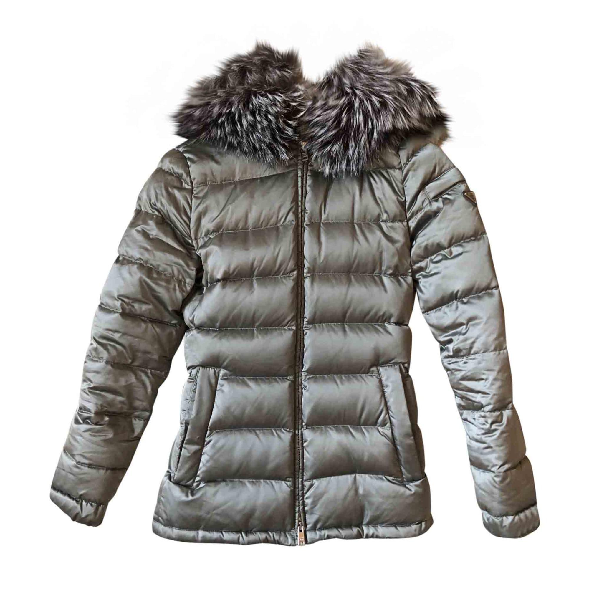 Doudoune PRADA 34 (XS, T0) gris vendu par Felicia 2202406 - 7153692 63efa178fef