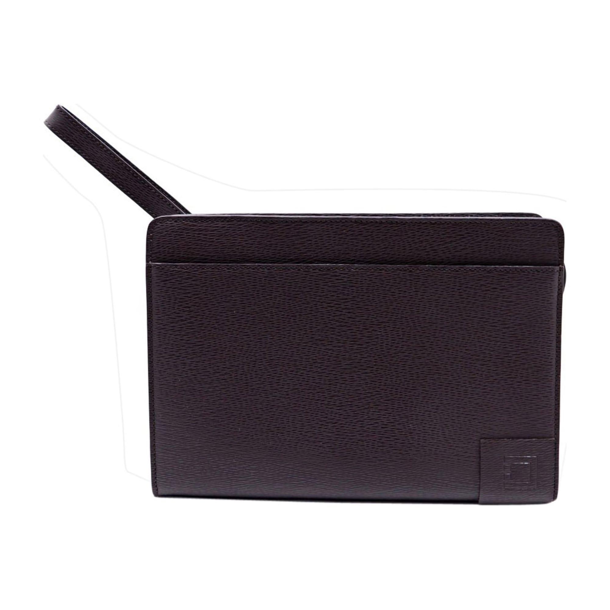 Porte document, serviette ST DUPONT cuir marron