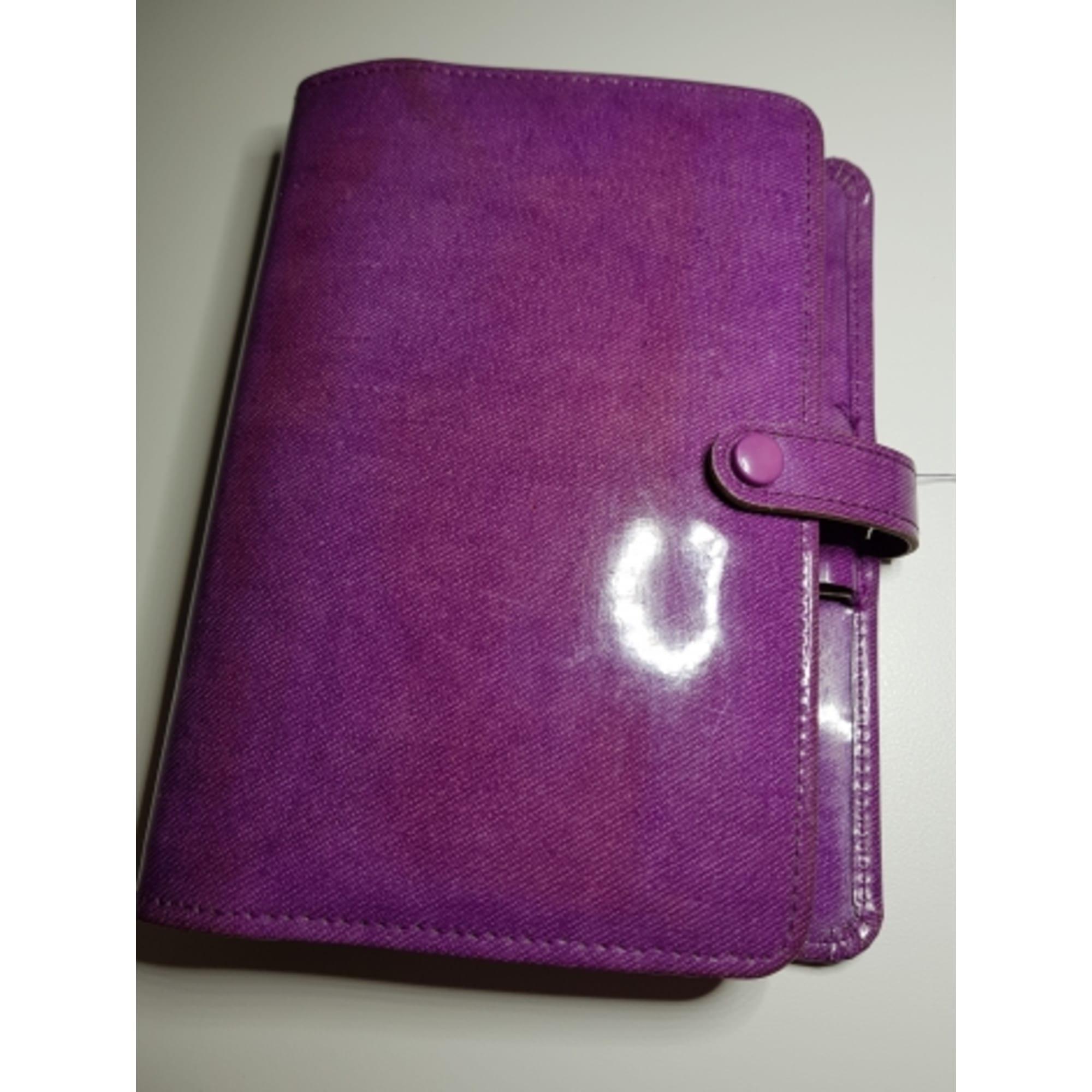 Pochette FILOFAX simili cuir verni violet