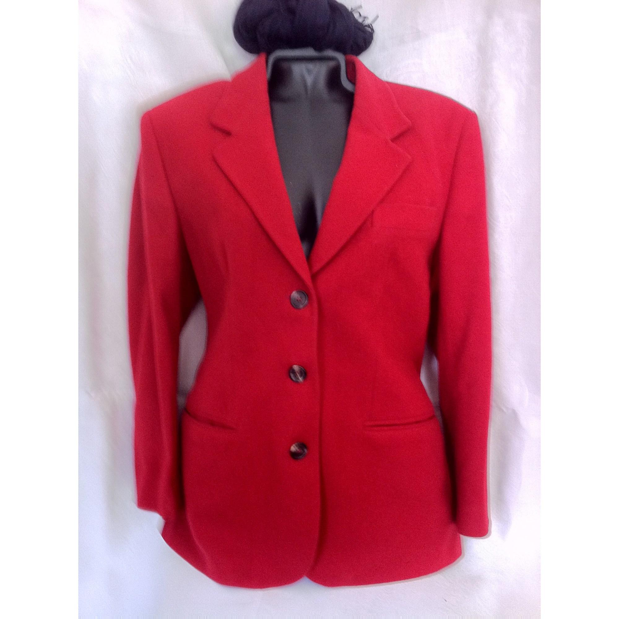 Veste tailleur rouge bordeaux