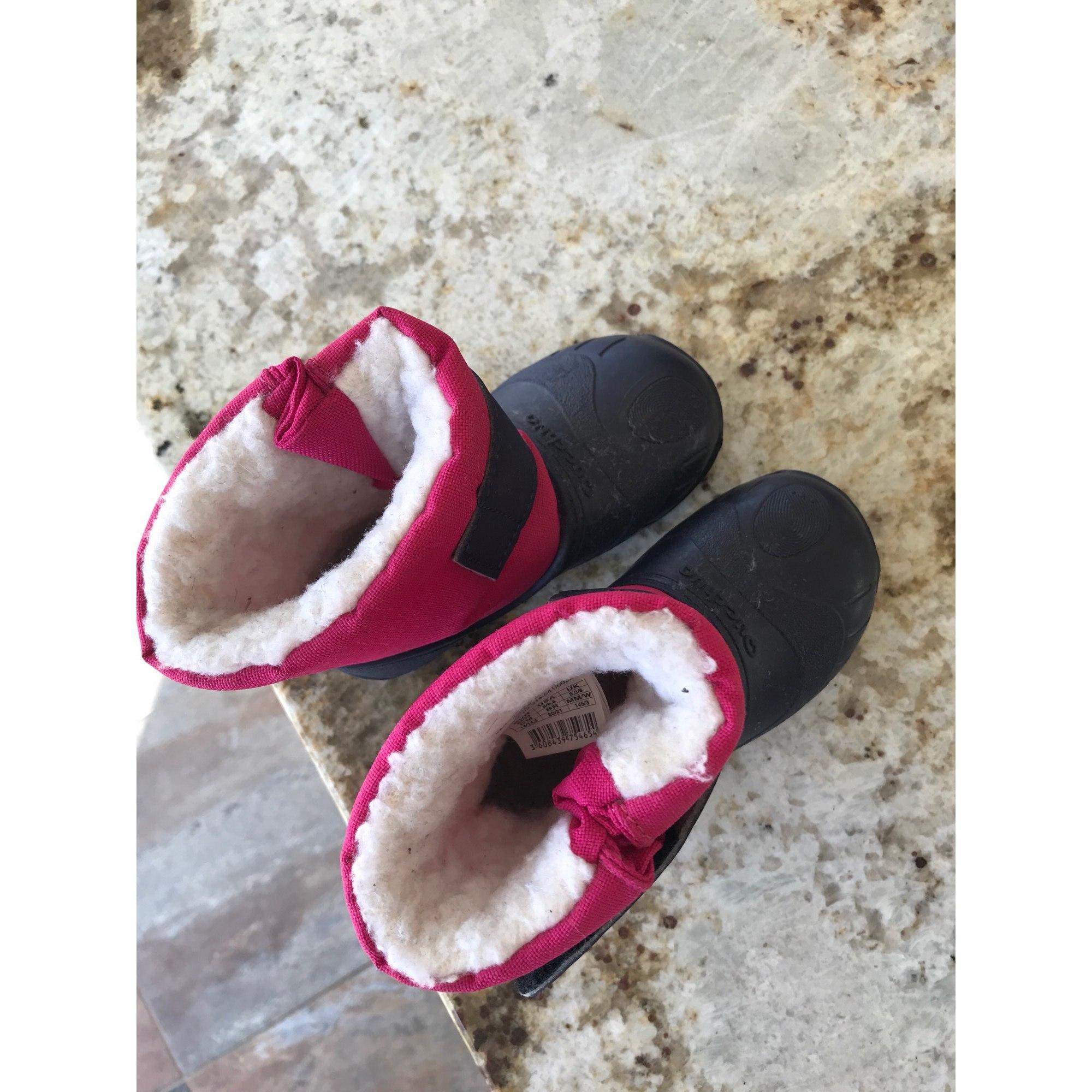 Bottes de neige QUECHUA plastique rose 22