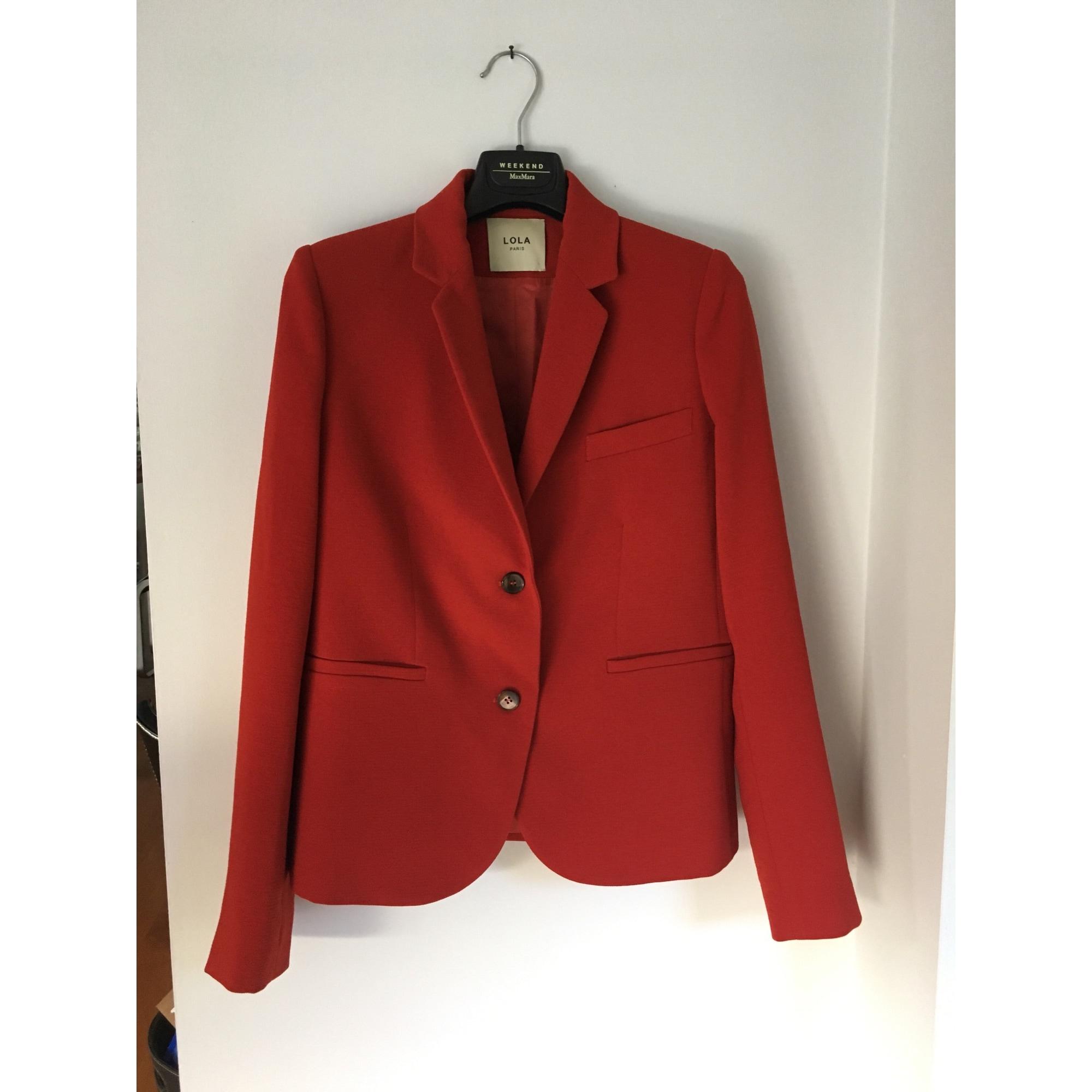 Blazer, veste tailleur LOLA 36 (S, T1) rouge rouille - 7181967 63d58591c312