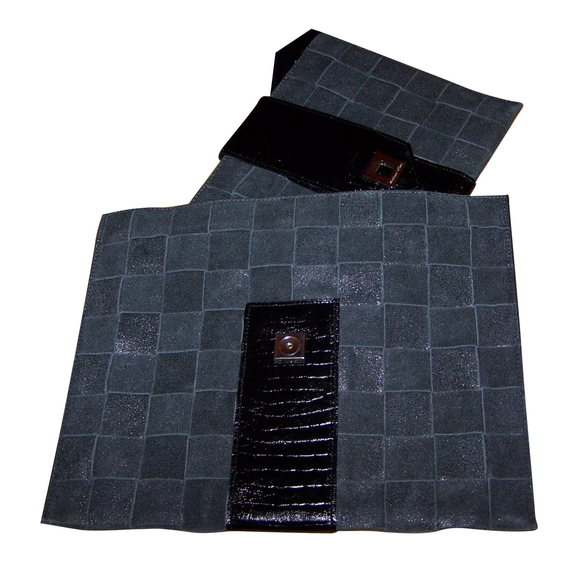 Pochette STEPHANE KÉLIAN cuir gris