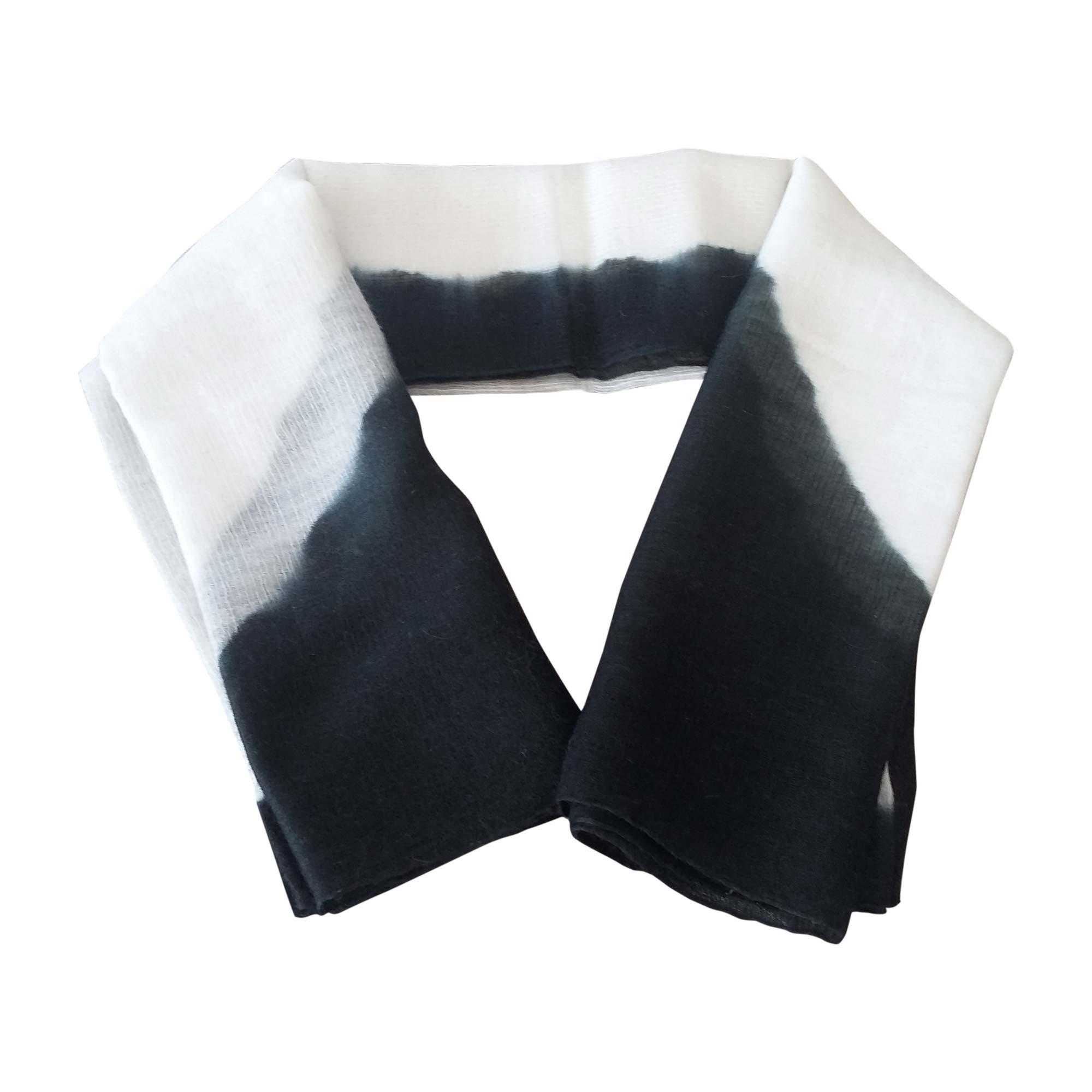 00920600f6ee Foulard HERMÈS carr bicolore noir et blanc - 7198368