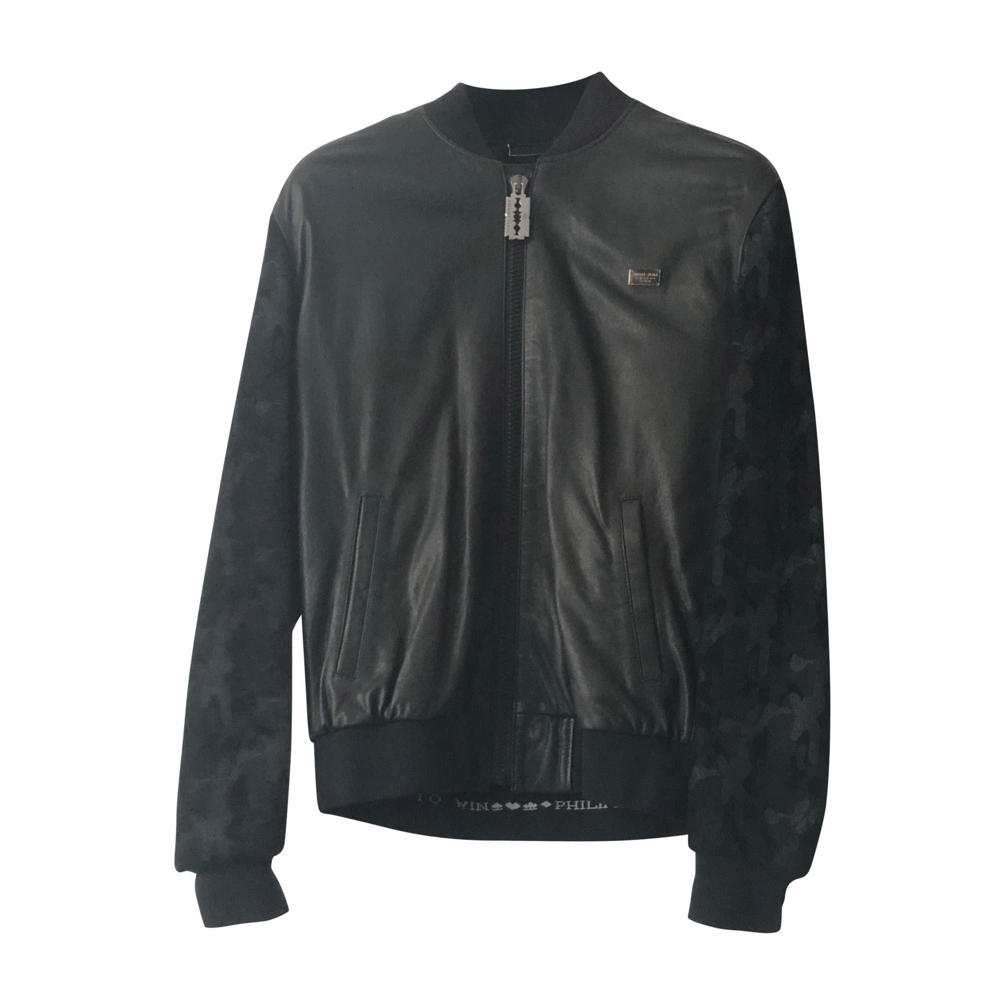 Philipp plein cuir veste homme,mode nouveau Philipp plein