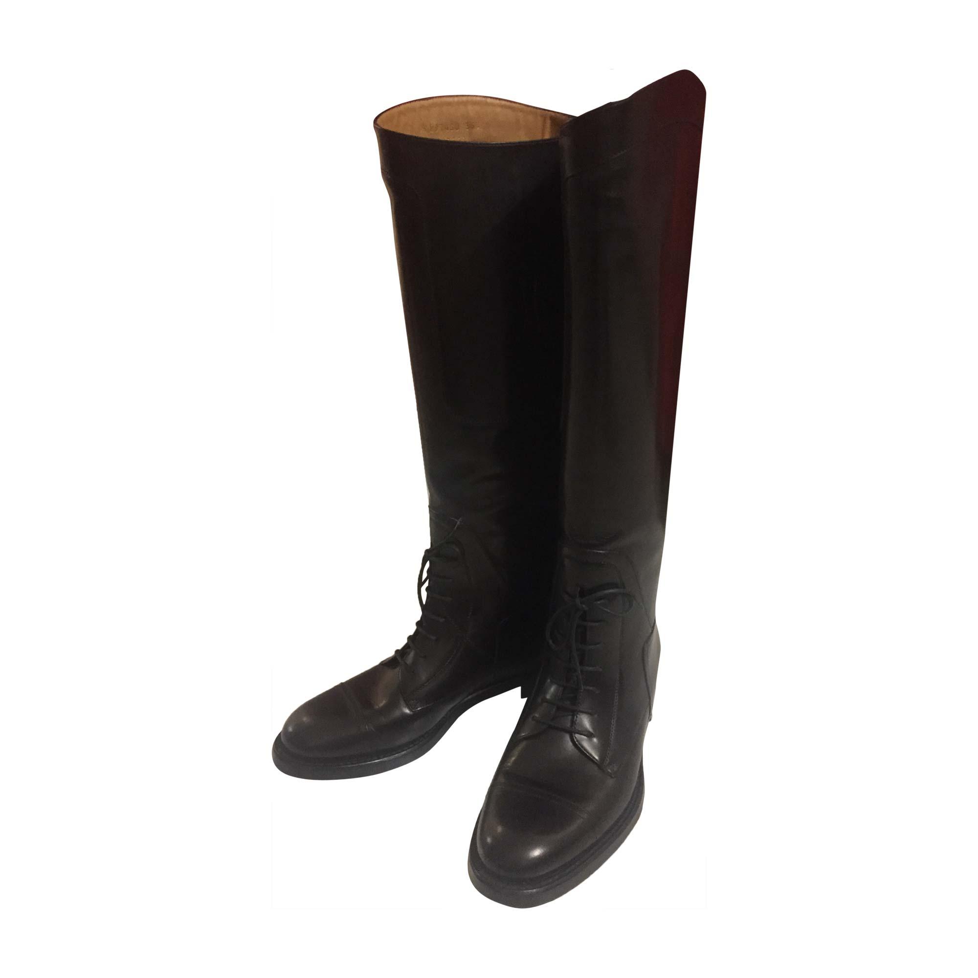 Bottes cavalières GUCCI 36,5 noir - 7206822 be4840a22ca
