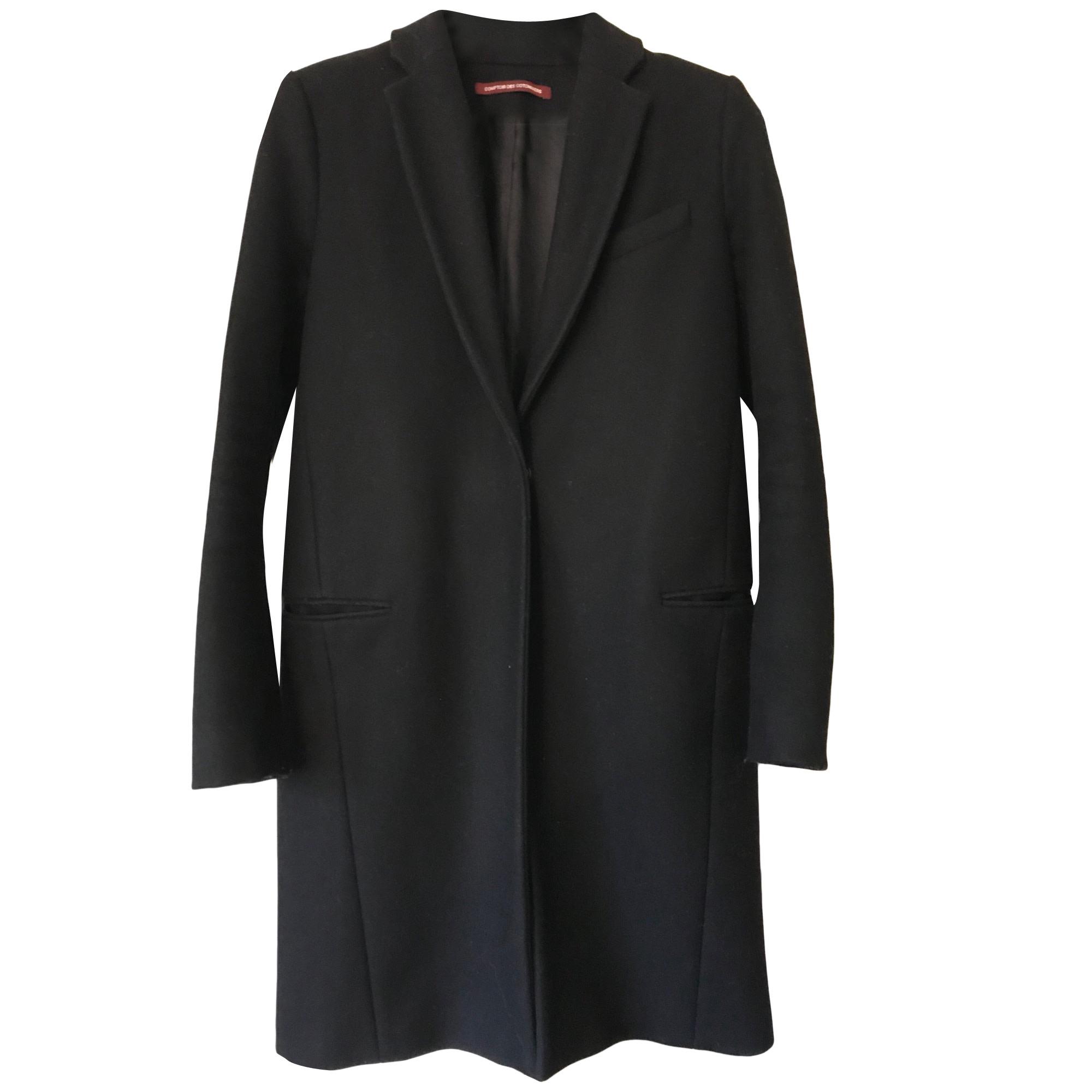 Manteau comptoir des cotonniers 36 s t1 noir vendu par - Comptoir des cotonniers ch ...