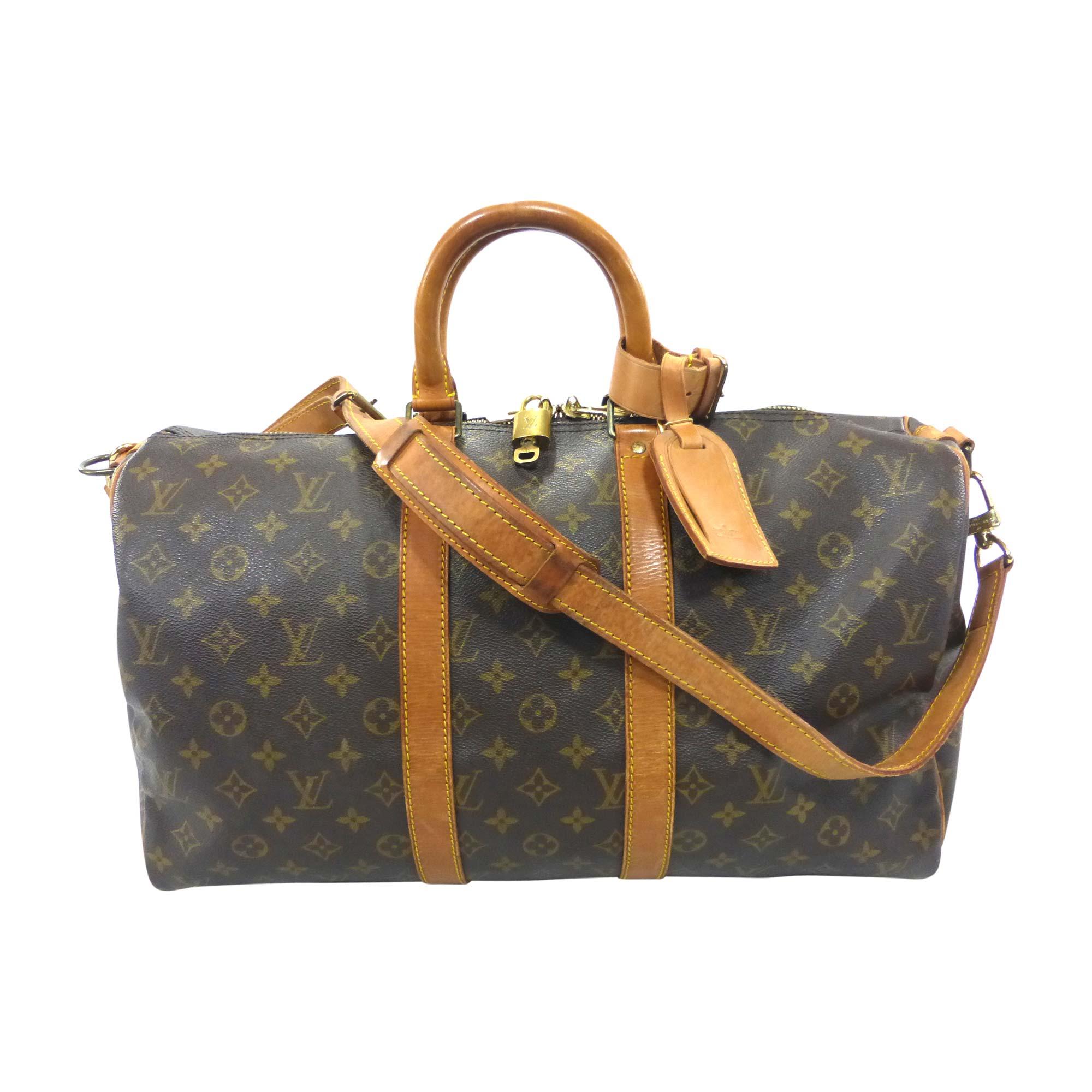 Sac XL en cuir LOUIS VUITTON keepall marron vendu par Bibag - 7208833 ee3a2de7ed6
