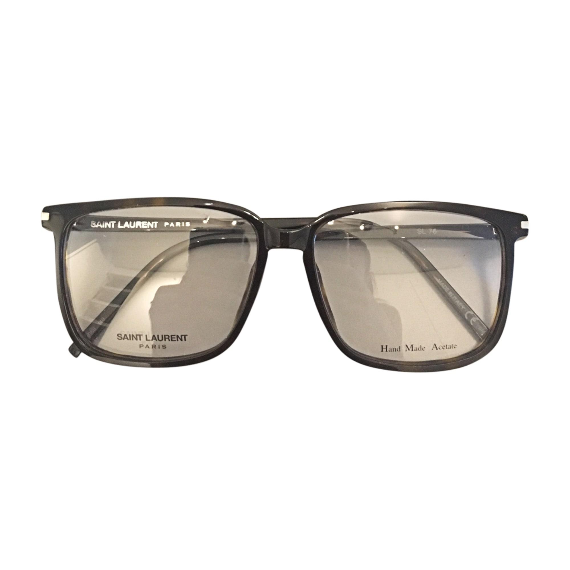 monture de lunettes saint laurent noir 7209067. Black Bedroom Furniture Sets. Home Design Ideas