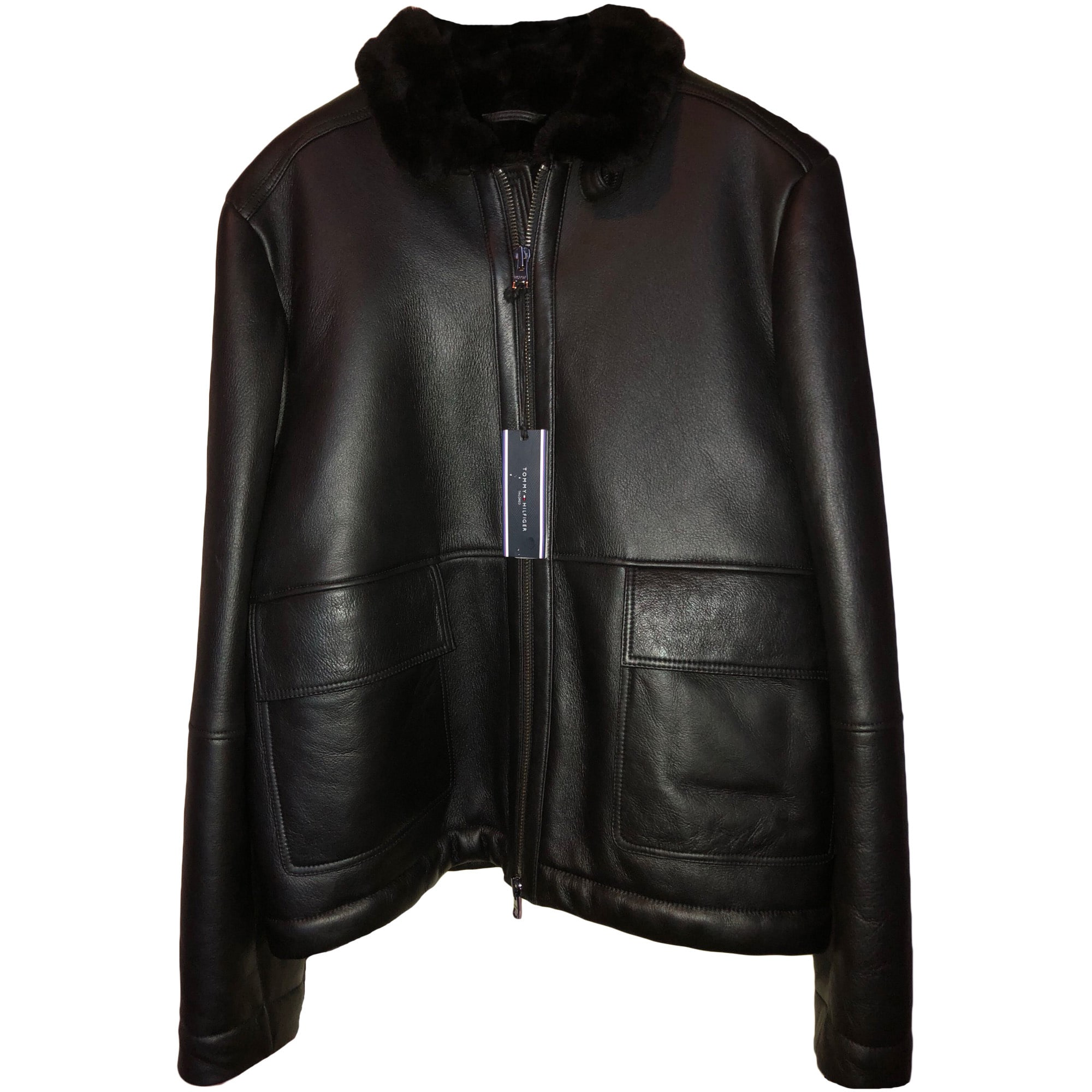 Blouson en cuir TOMMY HILFIGER 54 (L) noir - 7209587 1d5ee3193014