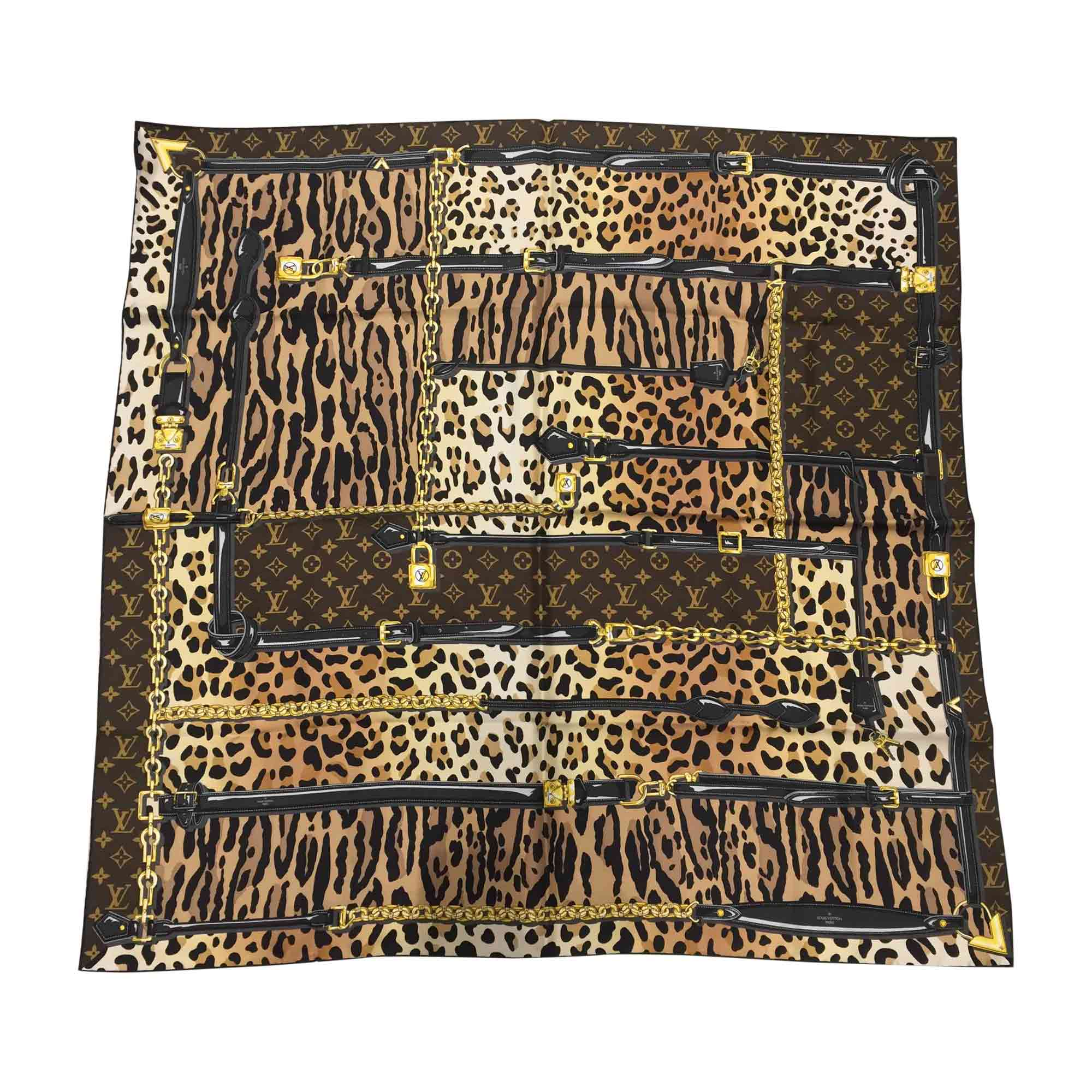 Foulard LOUIS VUITTON imprimés animaliers vendu par Closet2closet ... cd10a911132