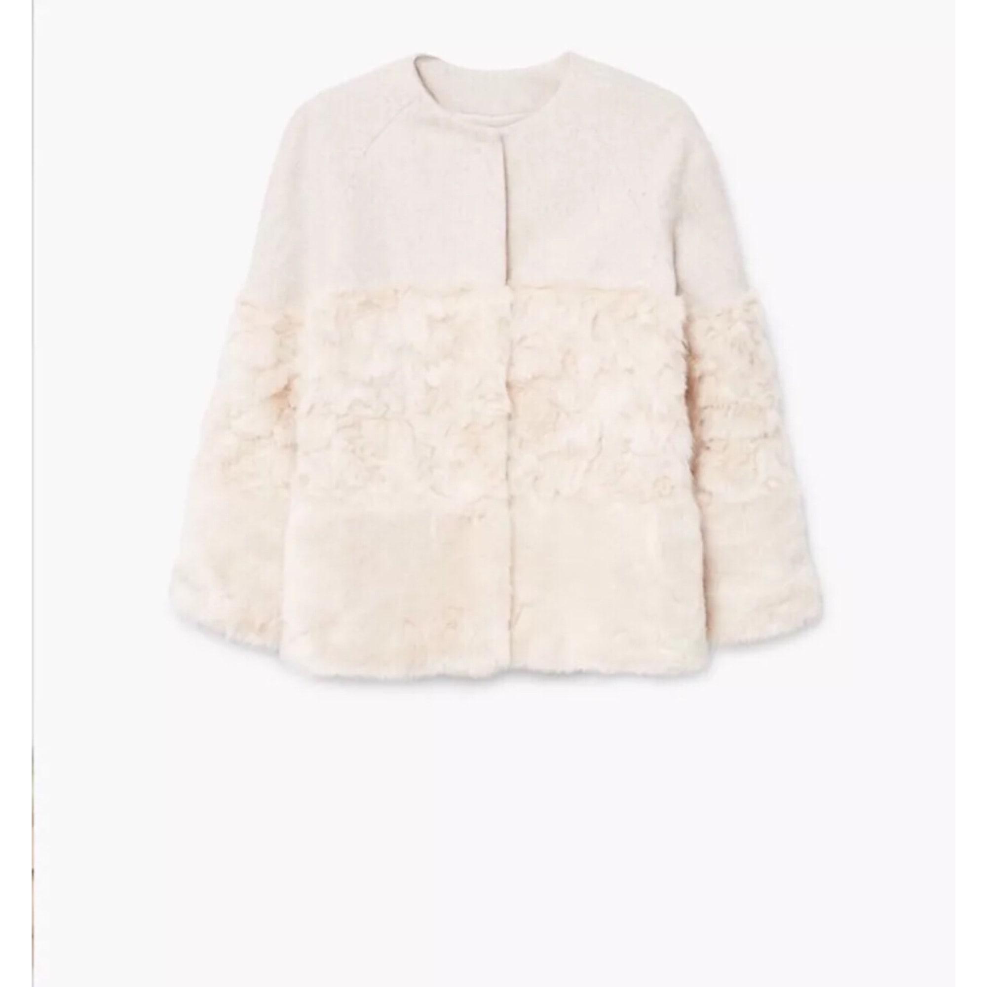 Blouson, veste en fourrure MANGO 34 (XS, T0) blanc vendu par Alexn ... 26bf2ef090d4