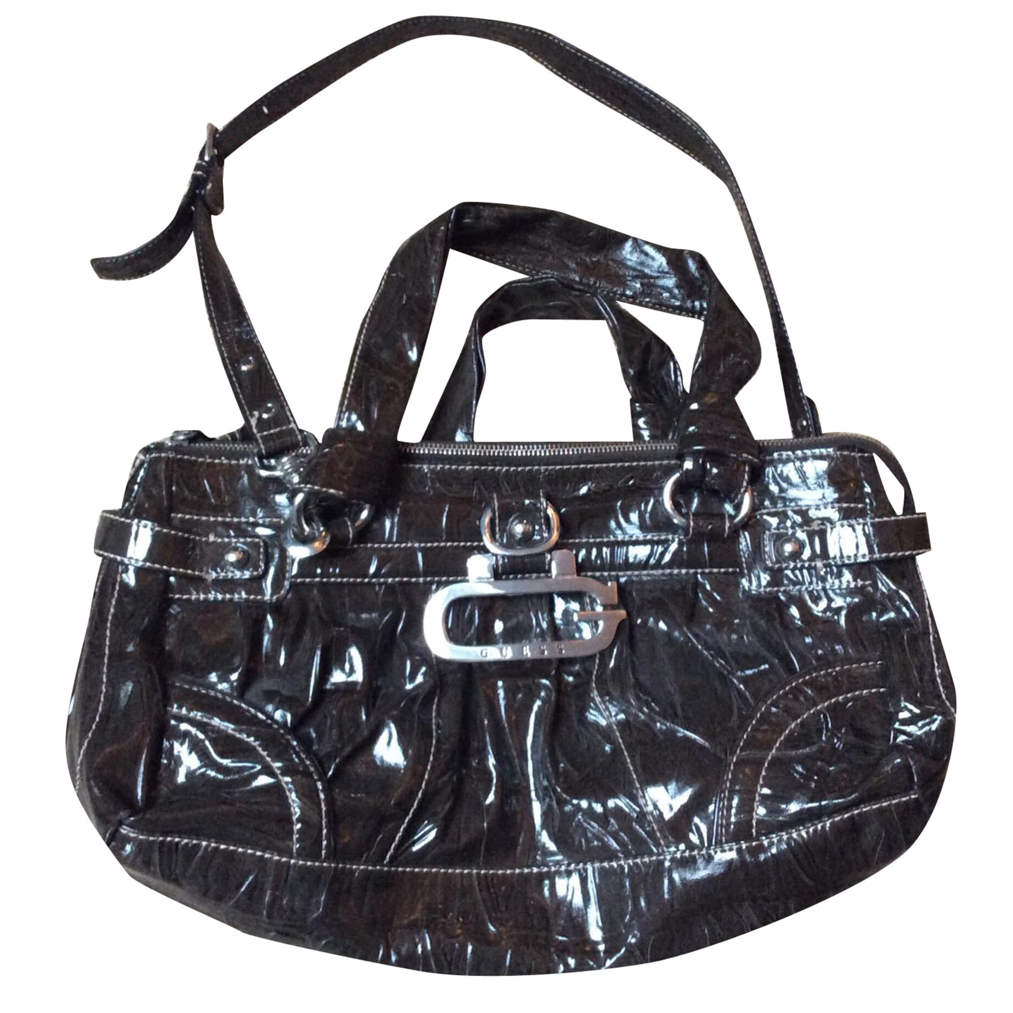 Guess Marron Cuir En Xl Sac qzRpAtz