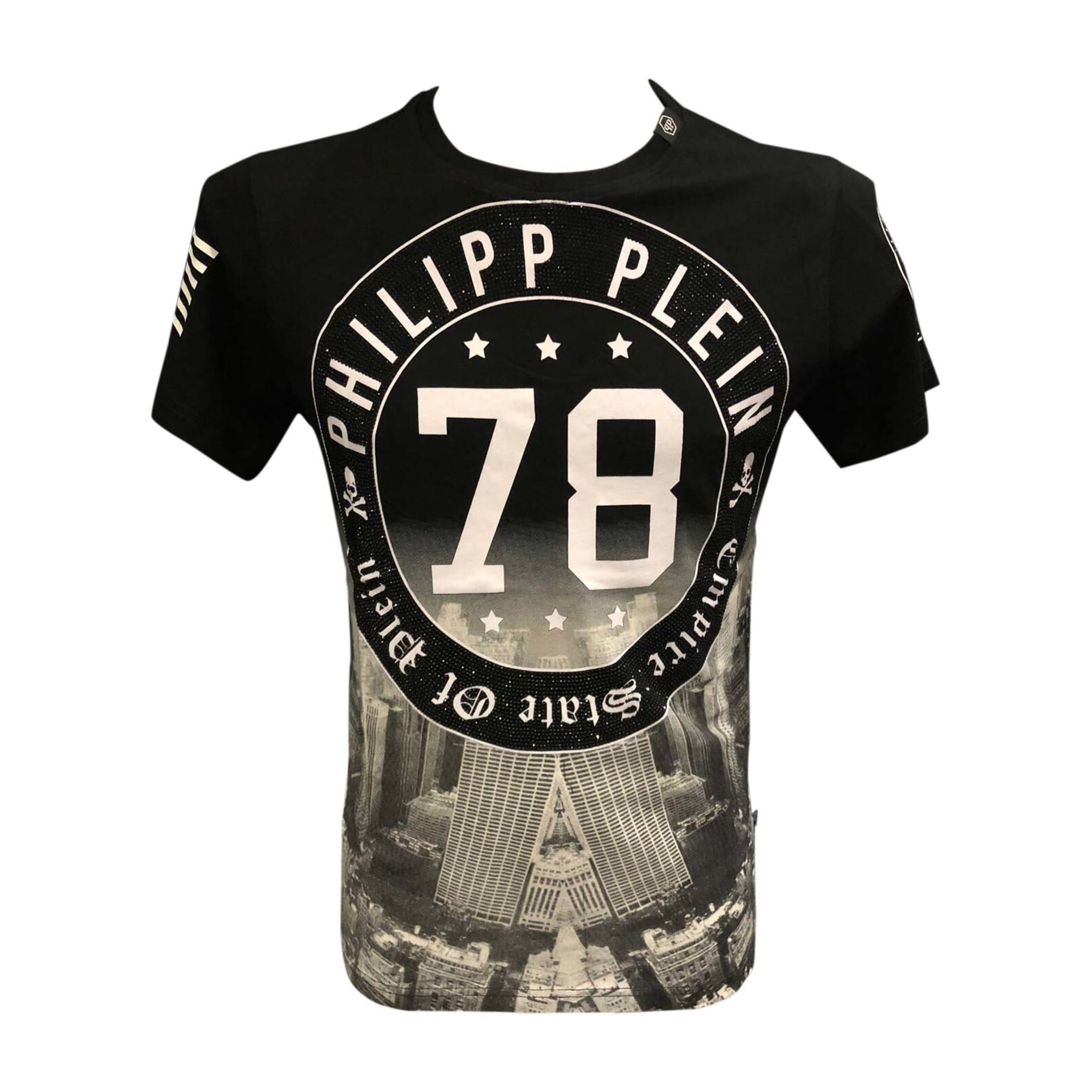 tee shirt philipp plein 1 s noir 7265590. Black Bedroom Furniture Sets. Home Design Ideas
