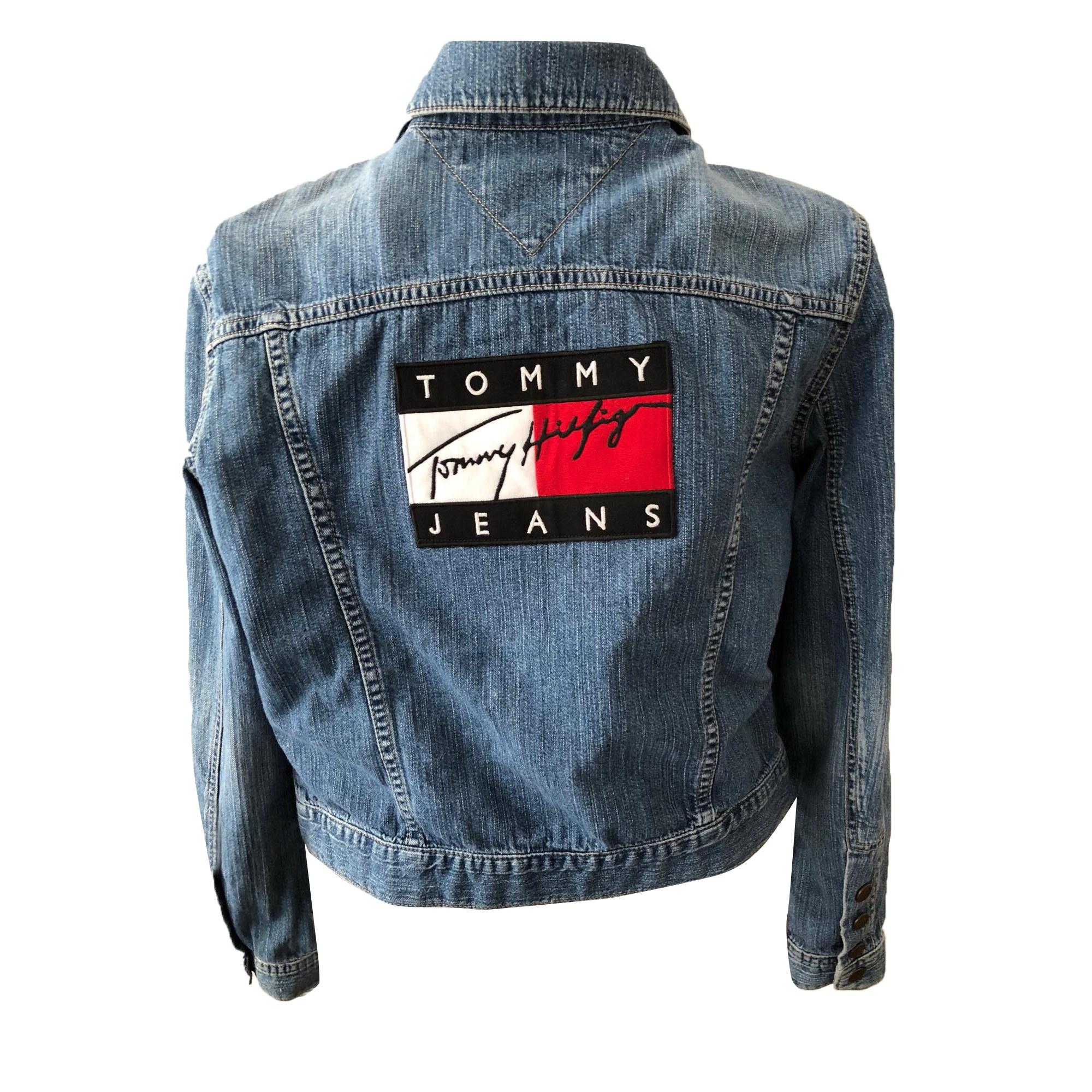 Veste en jean TOMMY HILFIGER 38 (M, T2) bleu vendu par L amie caline ... 3526110c4a26
