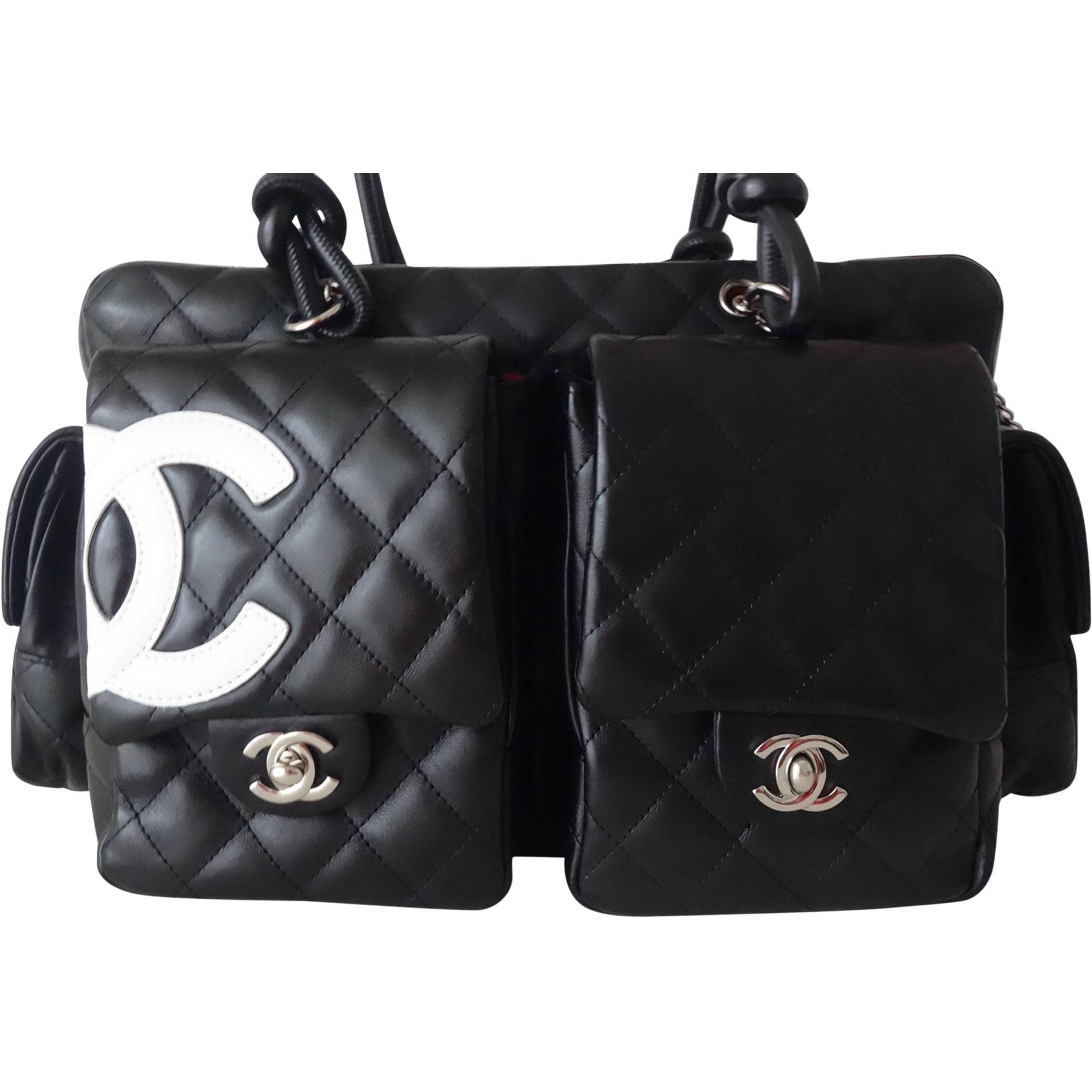 cf55790aa1d9 Sac à main en cuir CHANEL cambon noir vendu par Atoutluxe boutique ...