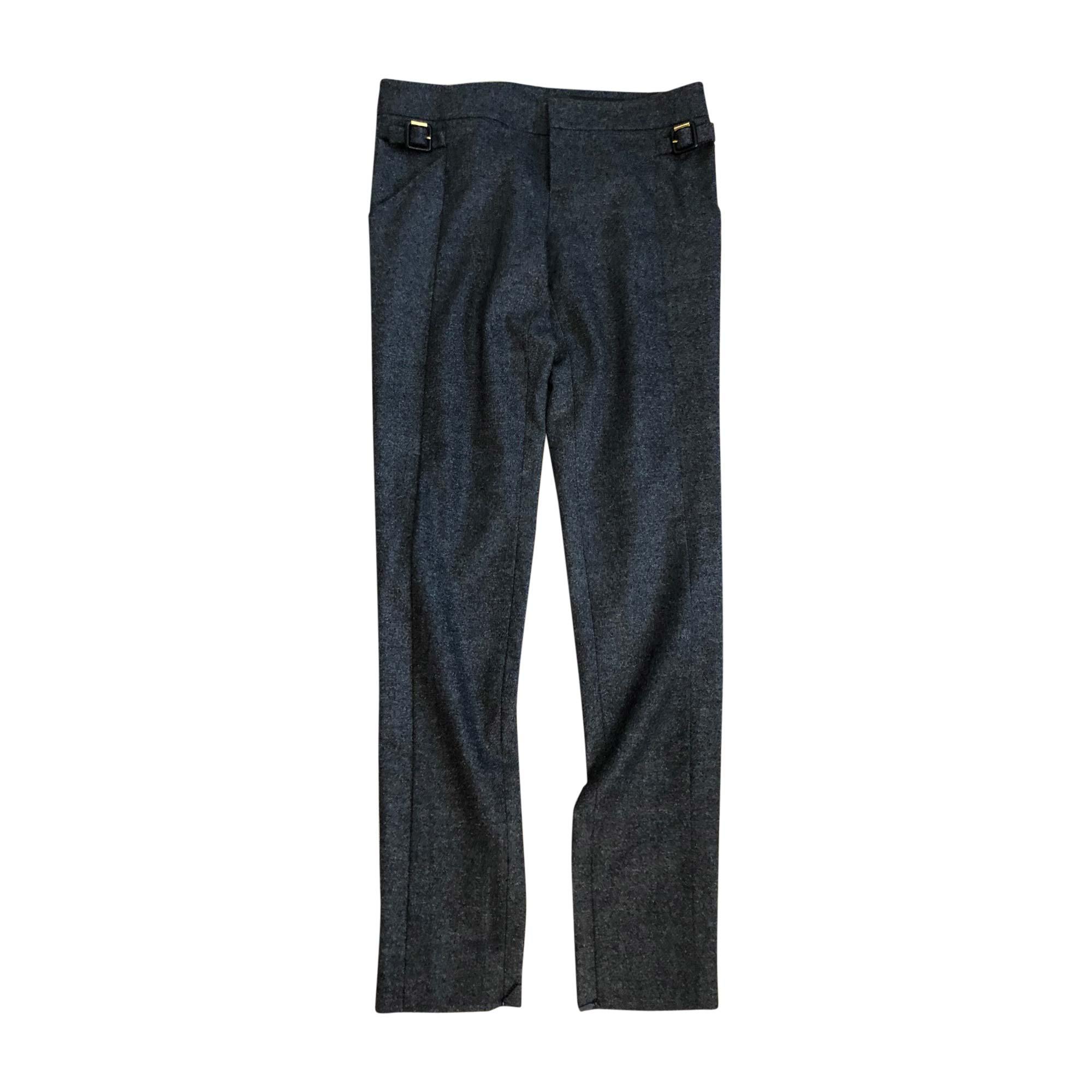 Straight Leg Pants GUCCI Gray, charcoal