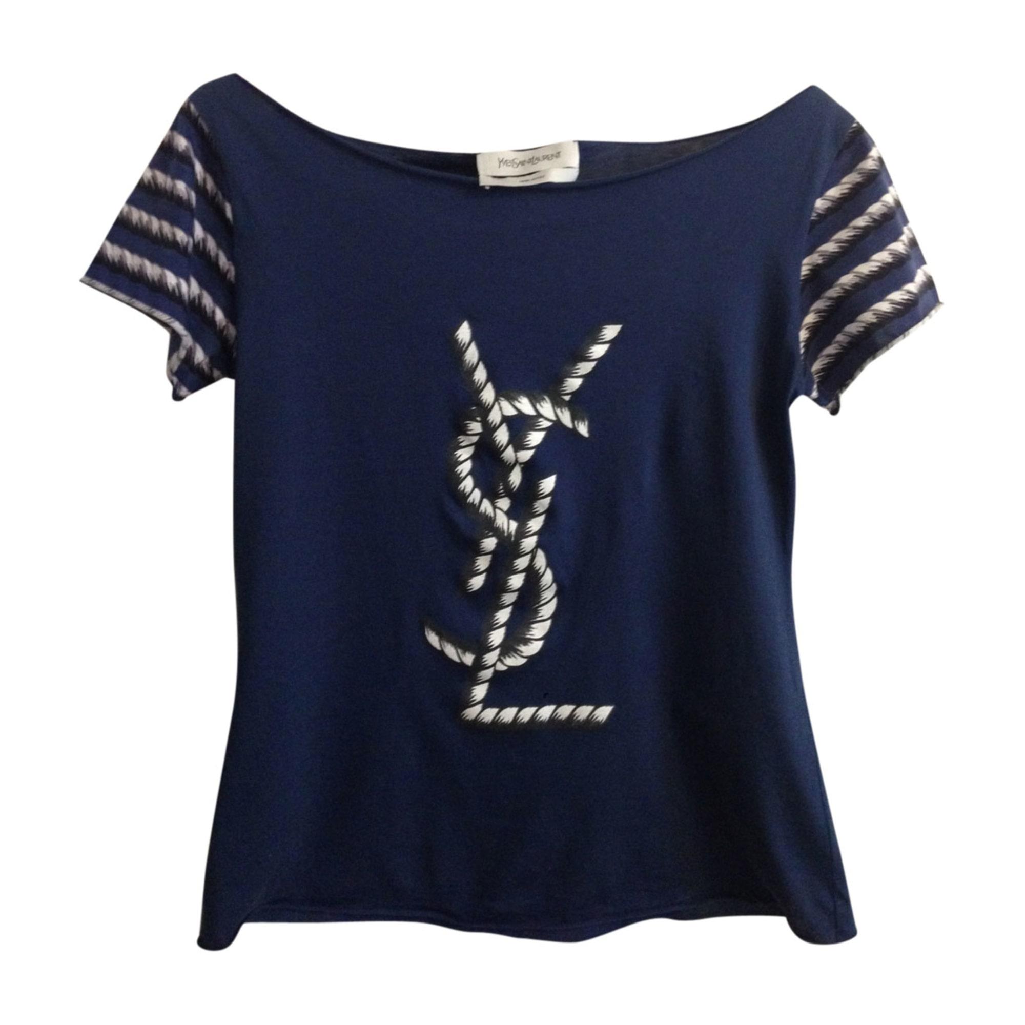top tee shirt yves saint laurent 36 s t1 bleu vendu par lucy89 7284766. Black Bedroom Furniture Sets. Home Design Ideas